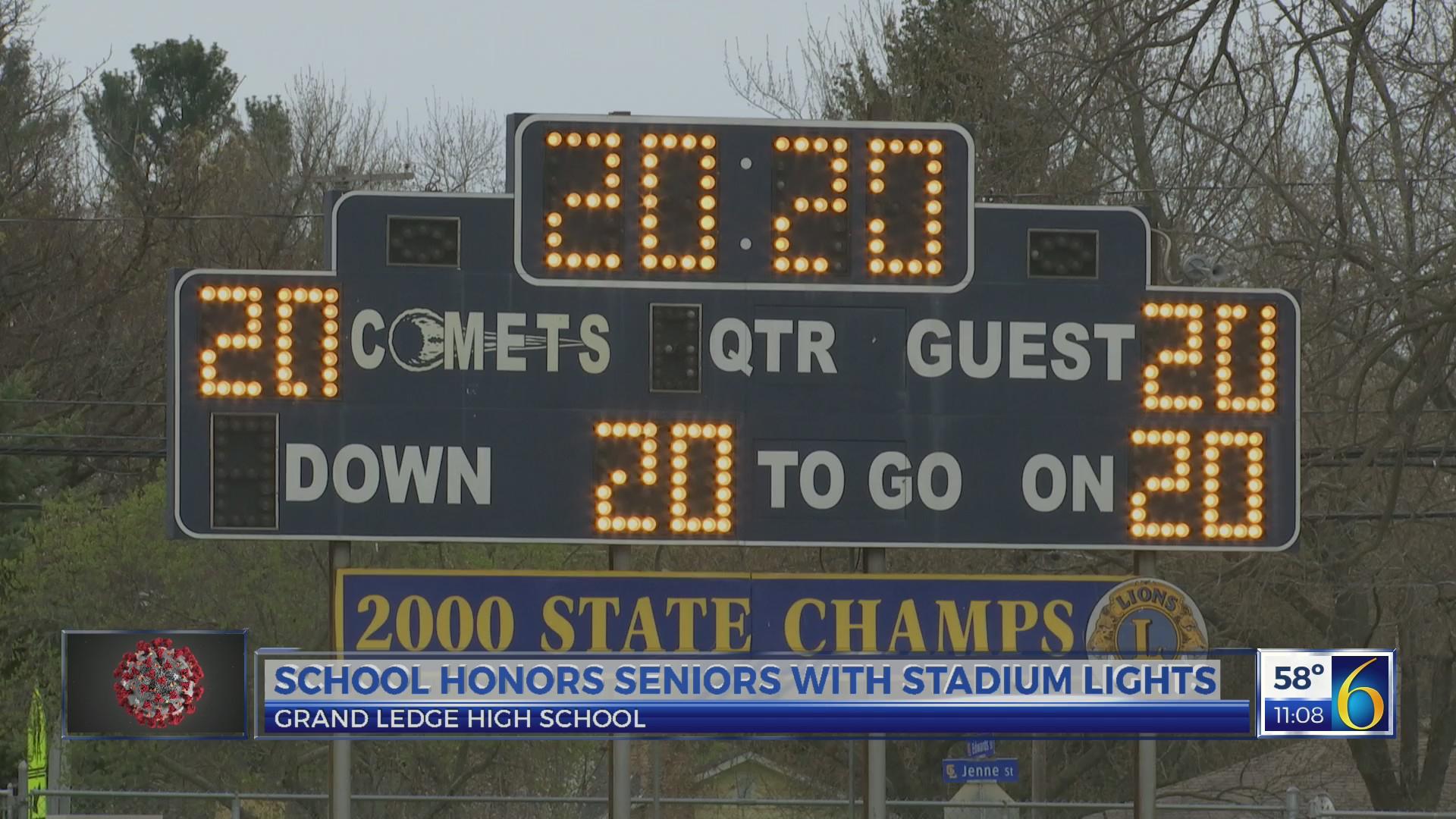 Grand Ledge Honors Seniors With Stadium Lights | Wlns 6 News Pertaining To Grand Ledge Public Schools Calendar
