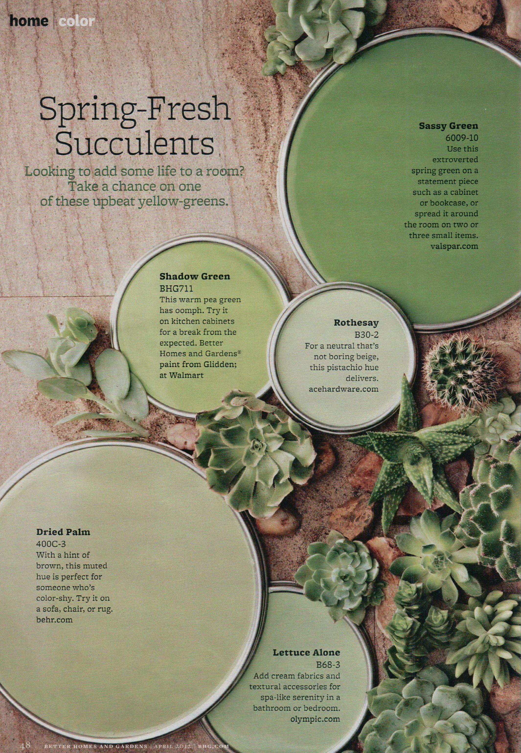 Great Greens Better Homes Gardens   Цветовые Схемы, Цветовые With Regard To Editorial Calendar Better Homes And Gardens