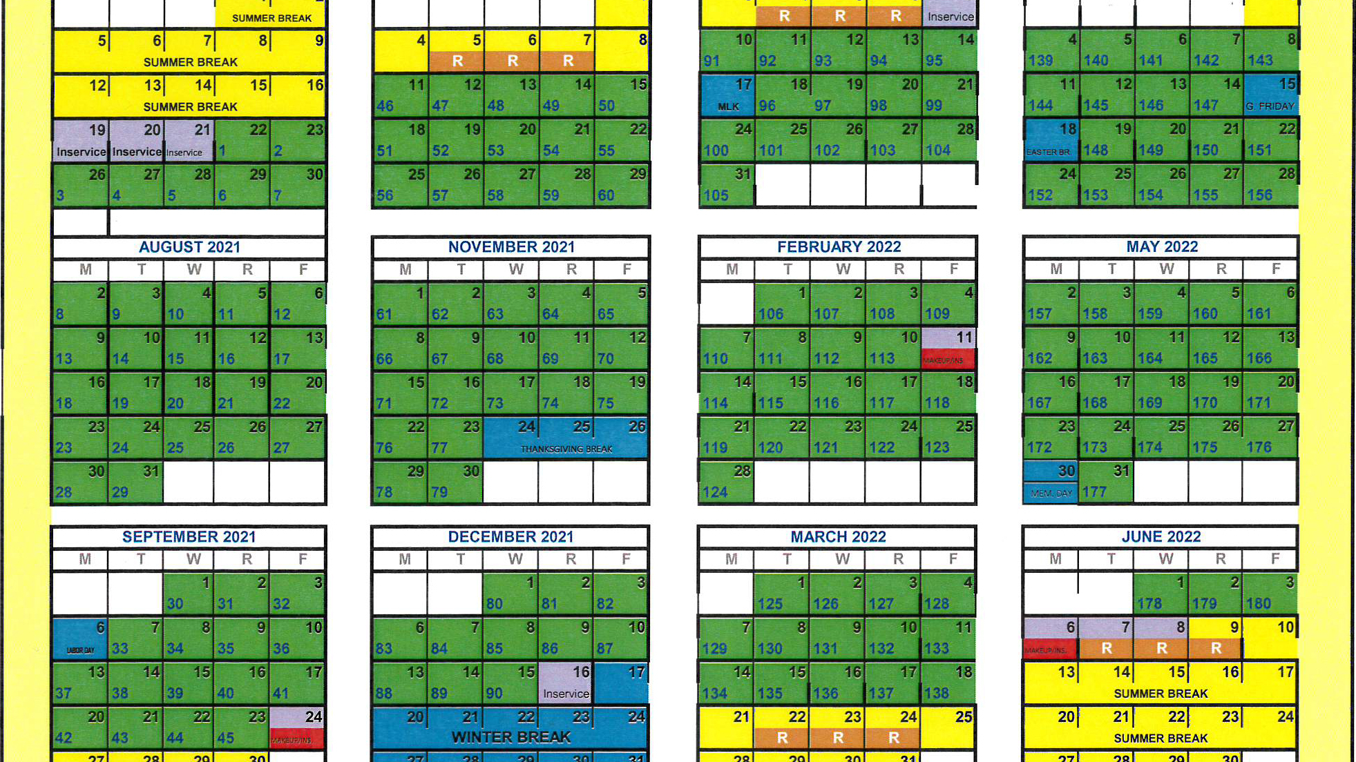 Greenwood School District 50 Adopts New Modified Calendars Inside Aiken County School District Calendar 2021