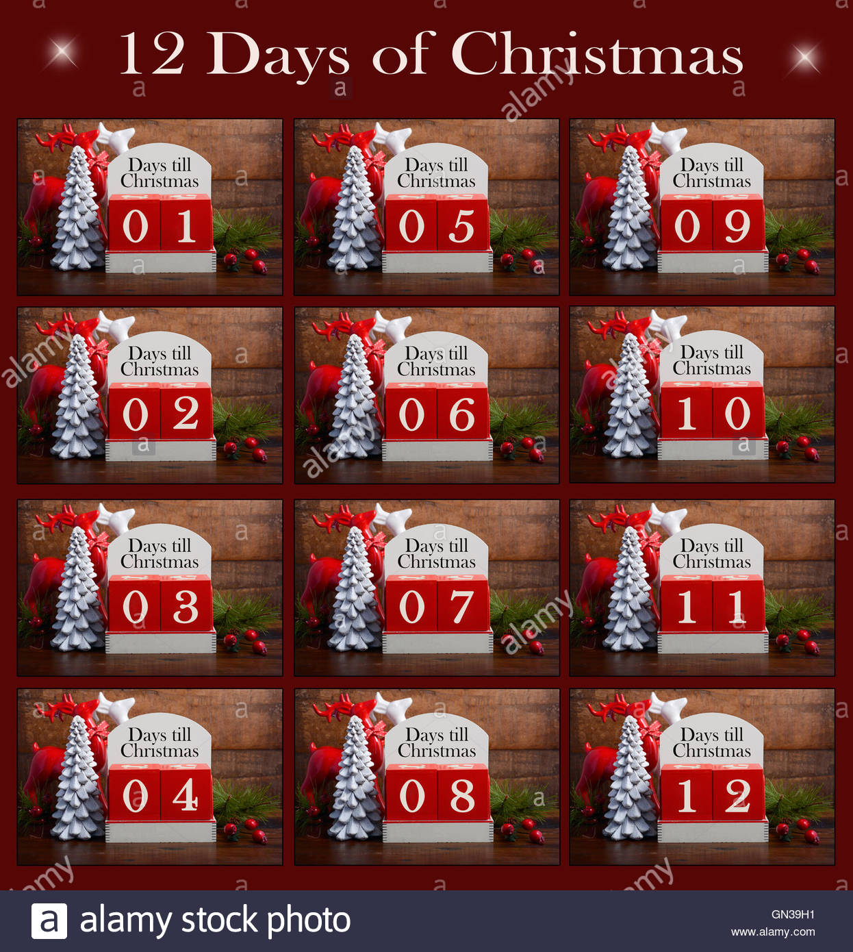 Happy Holidays Collage Of The Twelve Days Til Christmas Within 12 Days Of Christmas Calendar