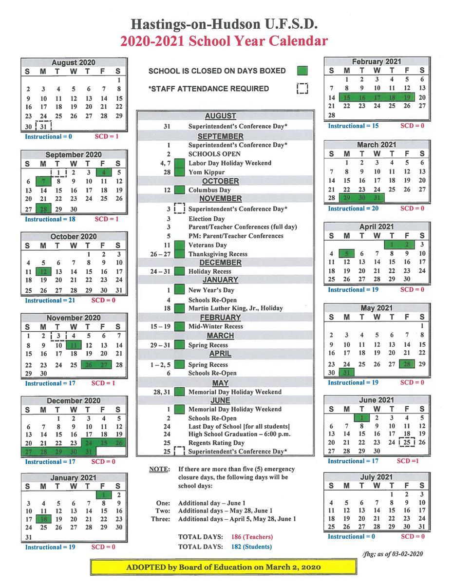 Hastings On Hudson U.f.s.d. / Homepage Intended For East Meadow High School Calandar 2012