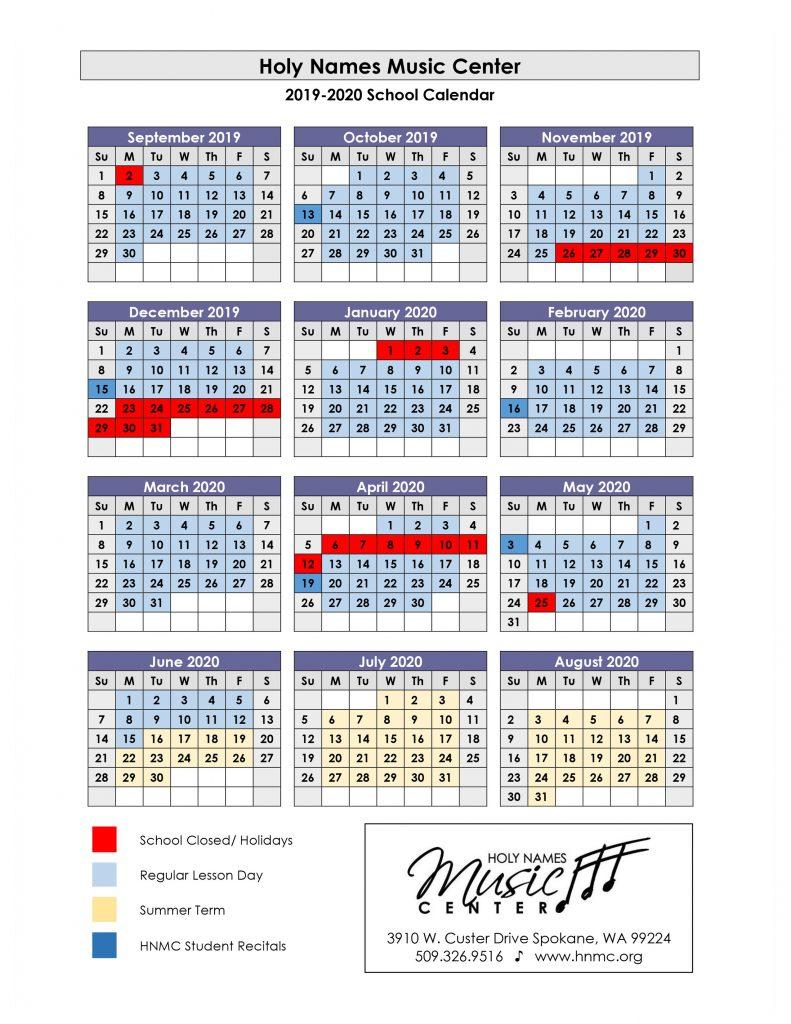 Holy Names Music Center | Spokane's Community Music School intended for Spokane Community College Calendar
