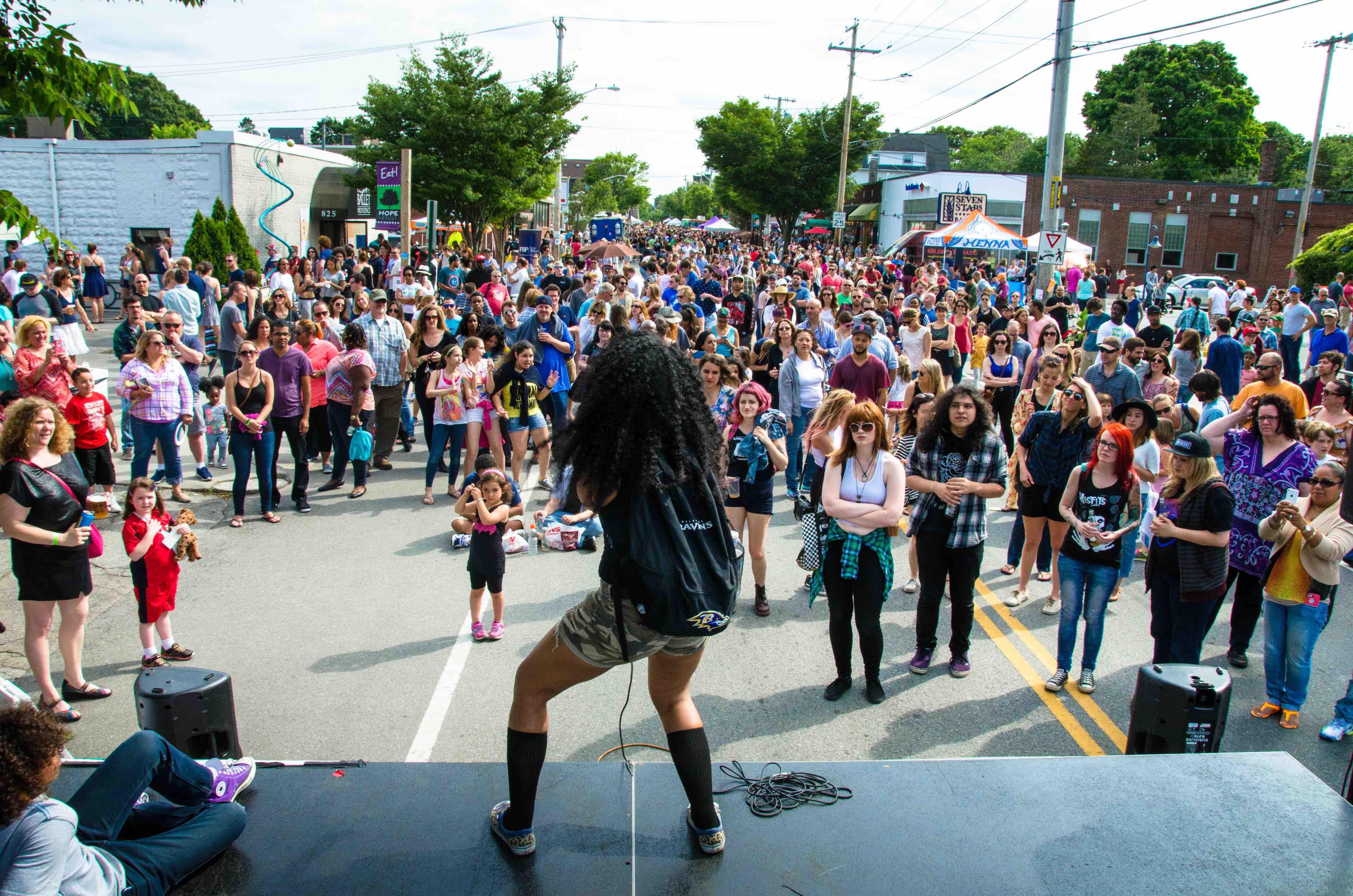 Hope Street Spring Block Party Regarding University Rhode Island Spring Semester Start Date