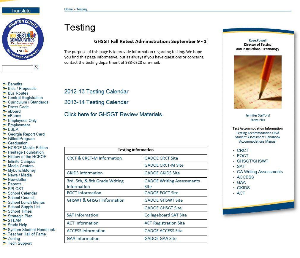 Houston County Board Of Education Testing Informaiton Throughout Houston County Board Of Education Calendar