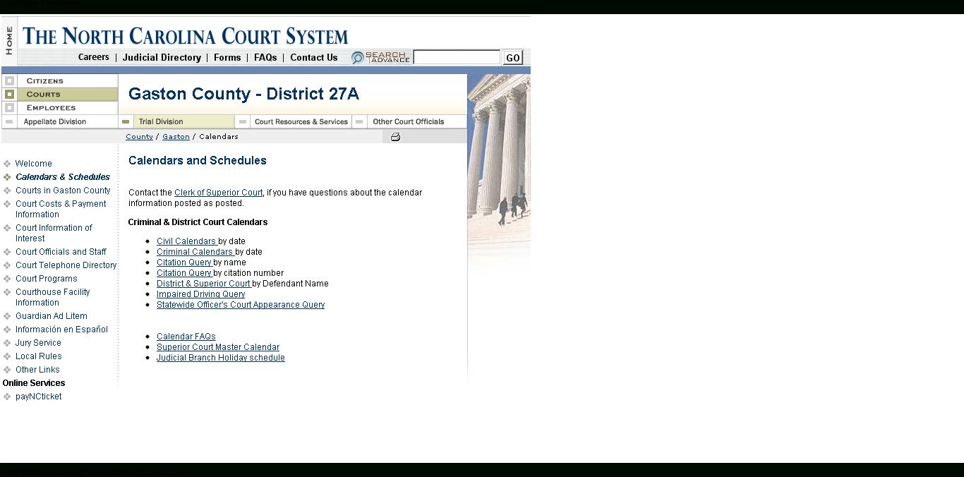 How Do I Find My Court Date If I Don't Have My Ticket Inside Nc Court Calendar By Defendant Name
