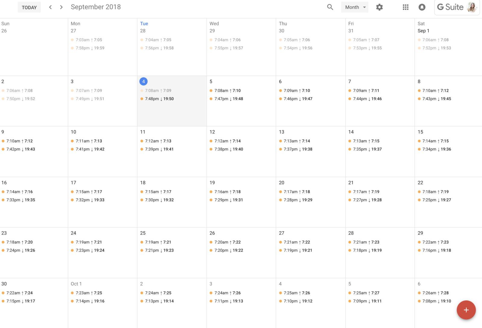 How To Add Sunrise + Sunset Times To Your Google Calendar regarding Sunrise And Sunset Times Calendar