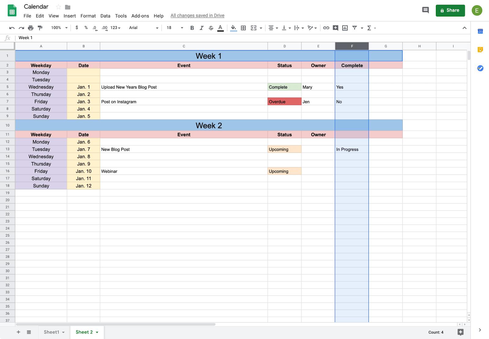 How To Create A Calendar In Google Docs | Copper inside How To Create A Printable Calendar In G Suite