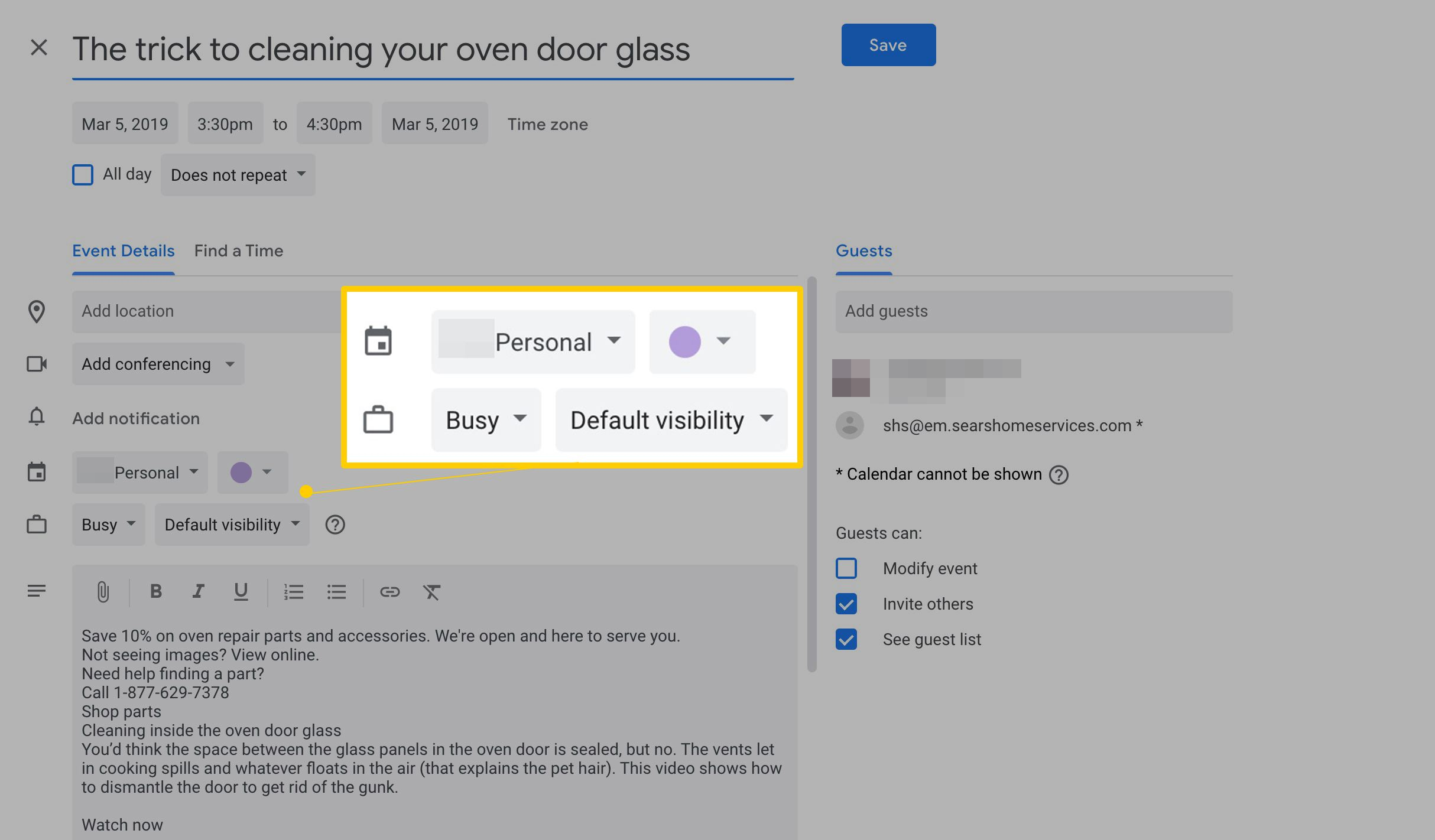 How To Create A Google Calendar Event From A Gmail Message Within Does Gmail Have A Calendar