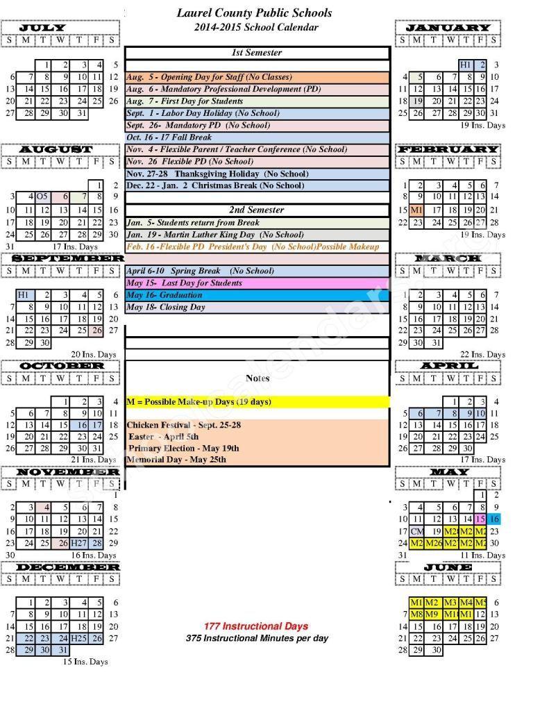 Http://printcalendaron/madison-County-Schools-Ky-Calendar/ within Madison County Ky School Calender