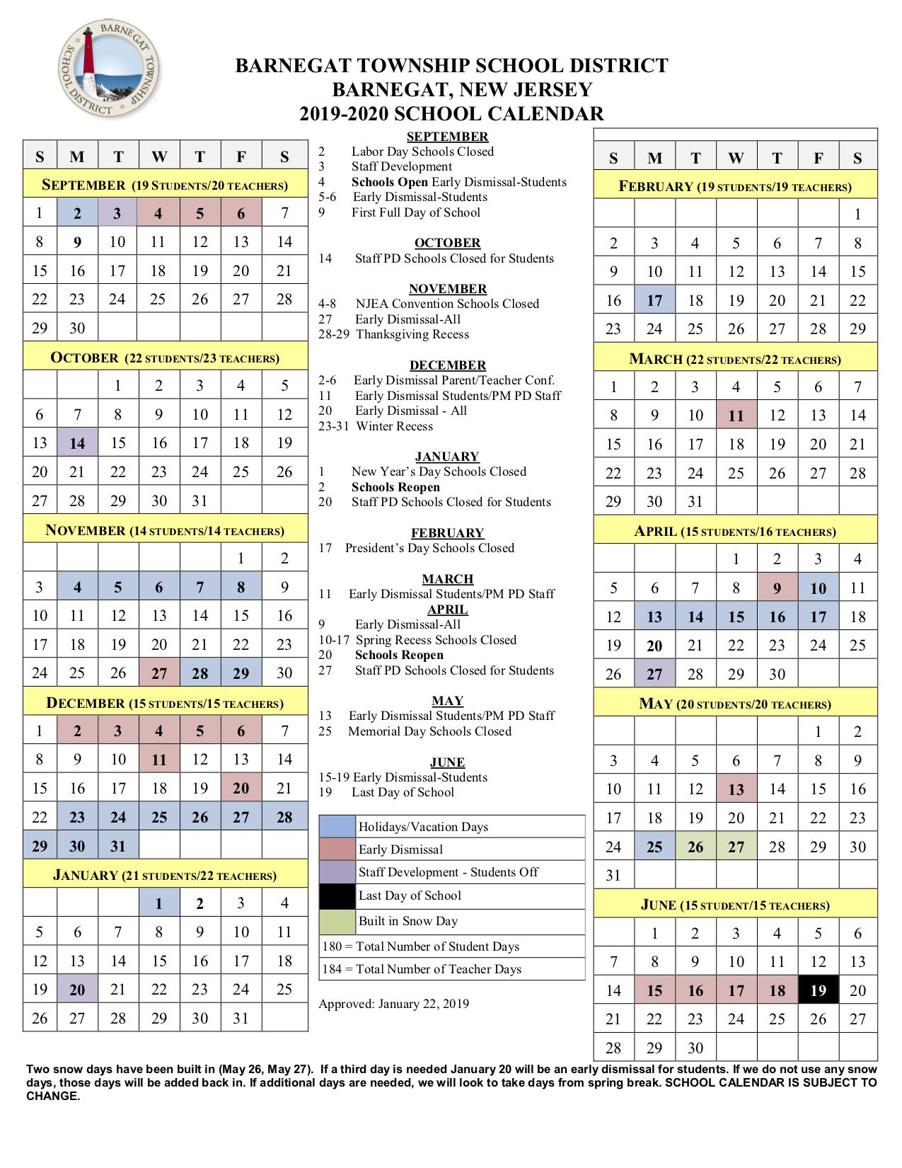 Huff, Jr., R (5Th Gr) / 2019 2020 School Calendar With Boyertown School Calander