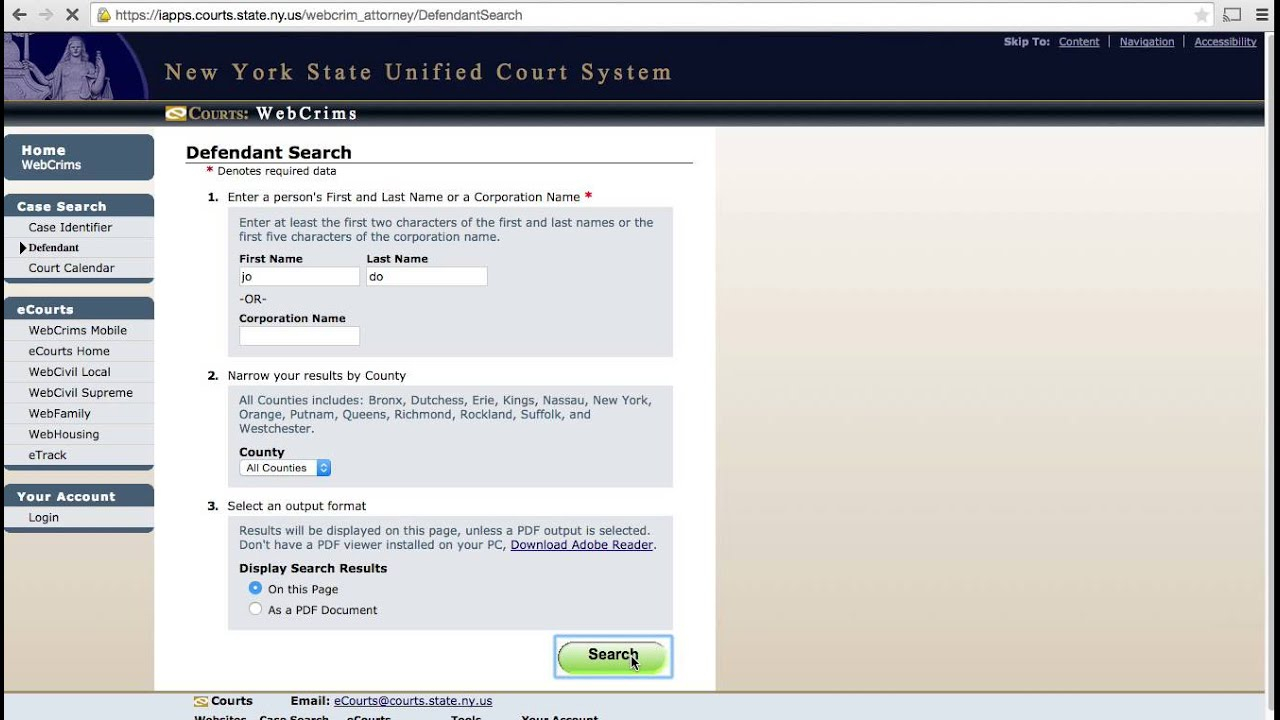 Inmate Search   Central Booking Info Pertaining To Nc Court Dates By Defendant Name Query