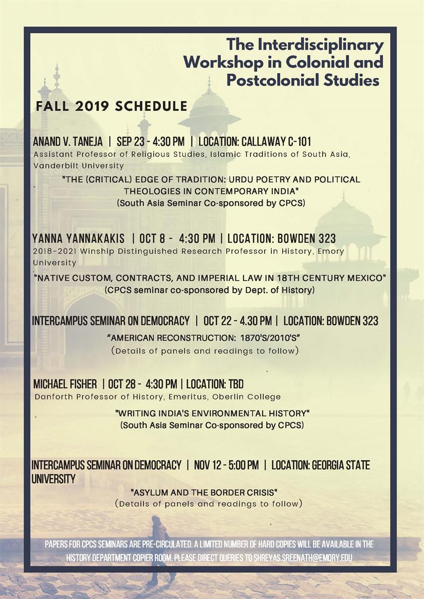 "Intercampus Seminar On Democracy: ""asylum And The Border Throughout Ga State University Calendar 2021"