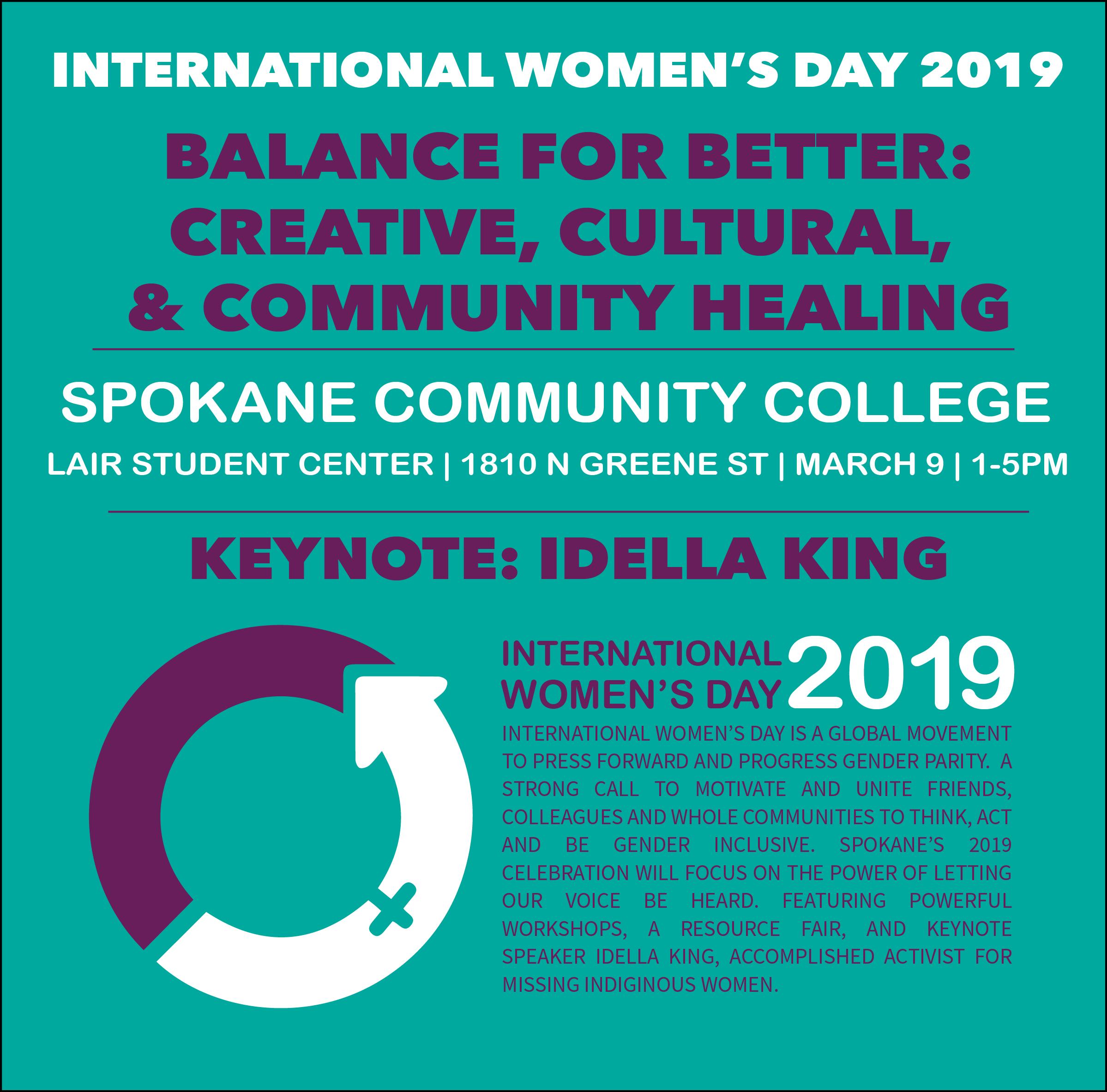 International Women's Day Spokane 2019 – Ywca Spokane With Regard To Spokane Community College Calendar