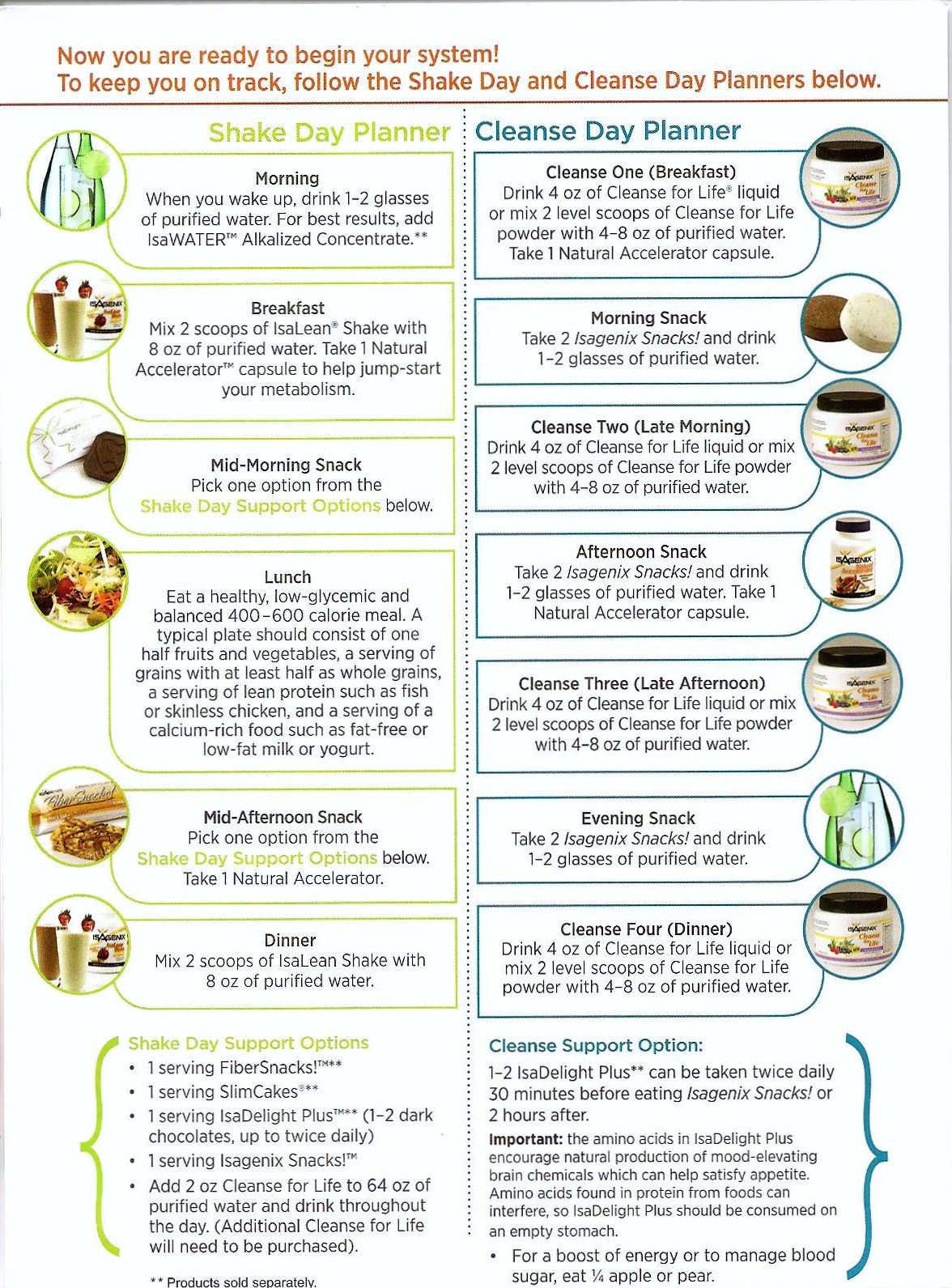 Isagenix Shake Day Planner Cleanse Day Planner   Isagenix Regarding Isagenix Cleanse Day Schedule Printable