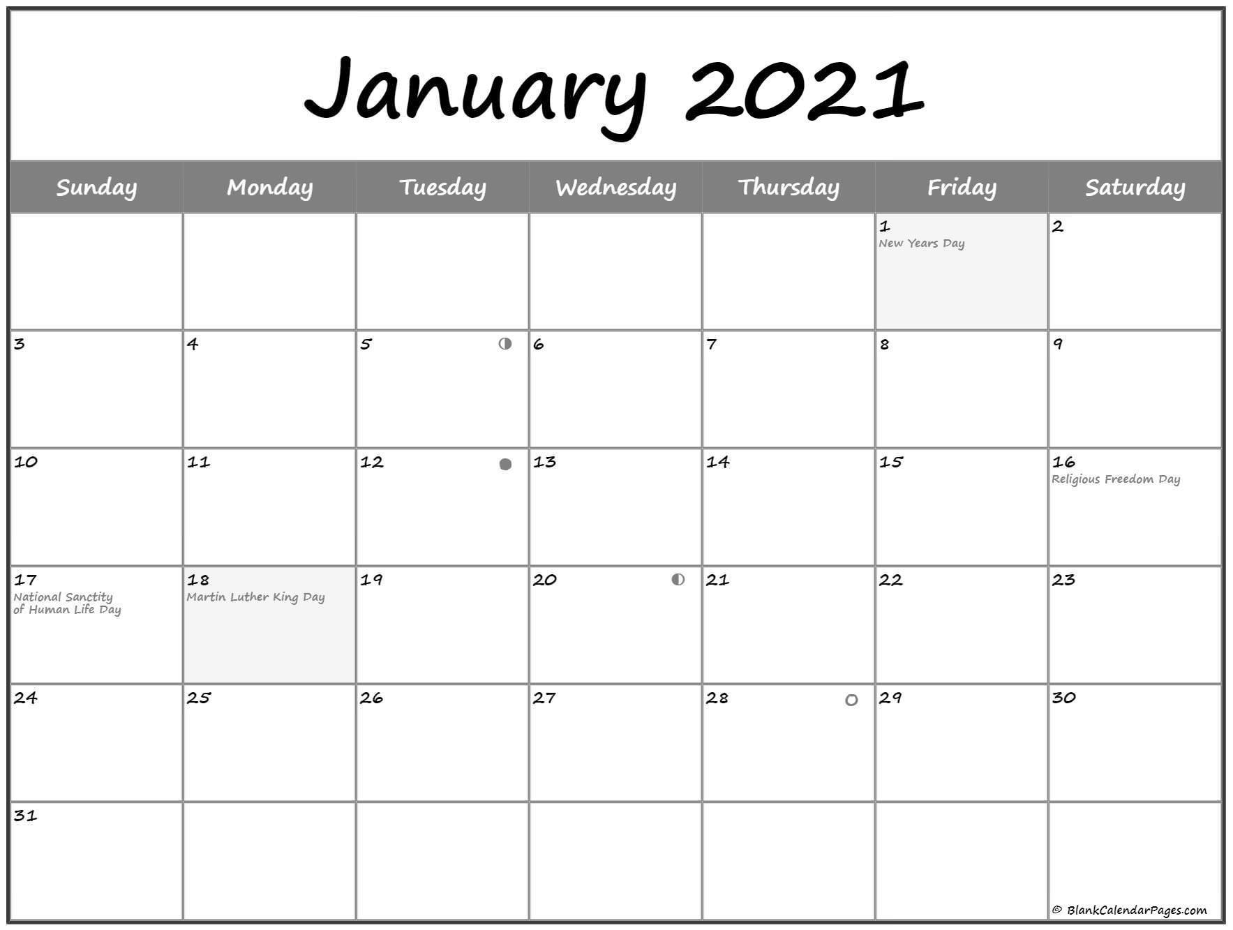 January 2021 Lunar Calendar   Moon Phase Calendar Inside Moon Calendar 2021 Name And Date For Kids