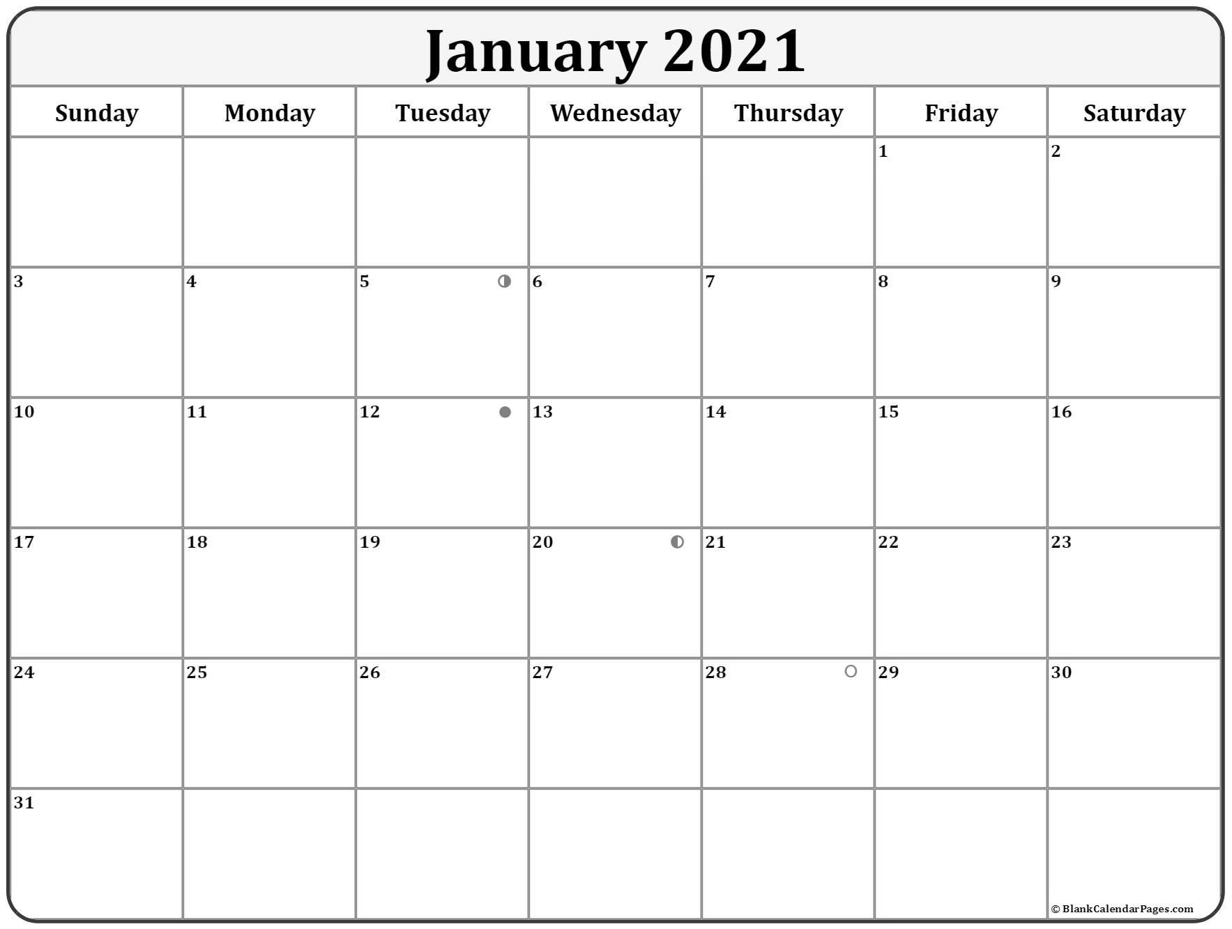 January 2021 Lunar Calendar   Moon Phase Calendar With Moon Calendar 2021 Name And Date For Kids
