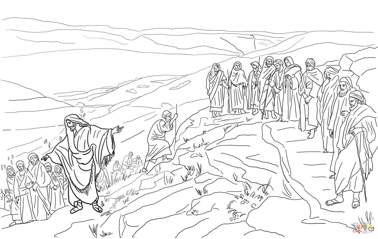 Jesus Chooses Twelve Disciples Coloring Page | Free throughout Printables Pictures Of Mens On A Mission