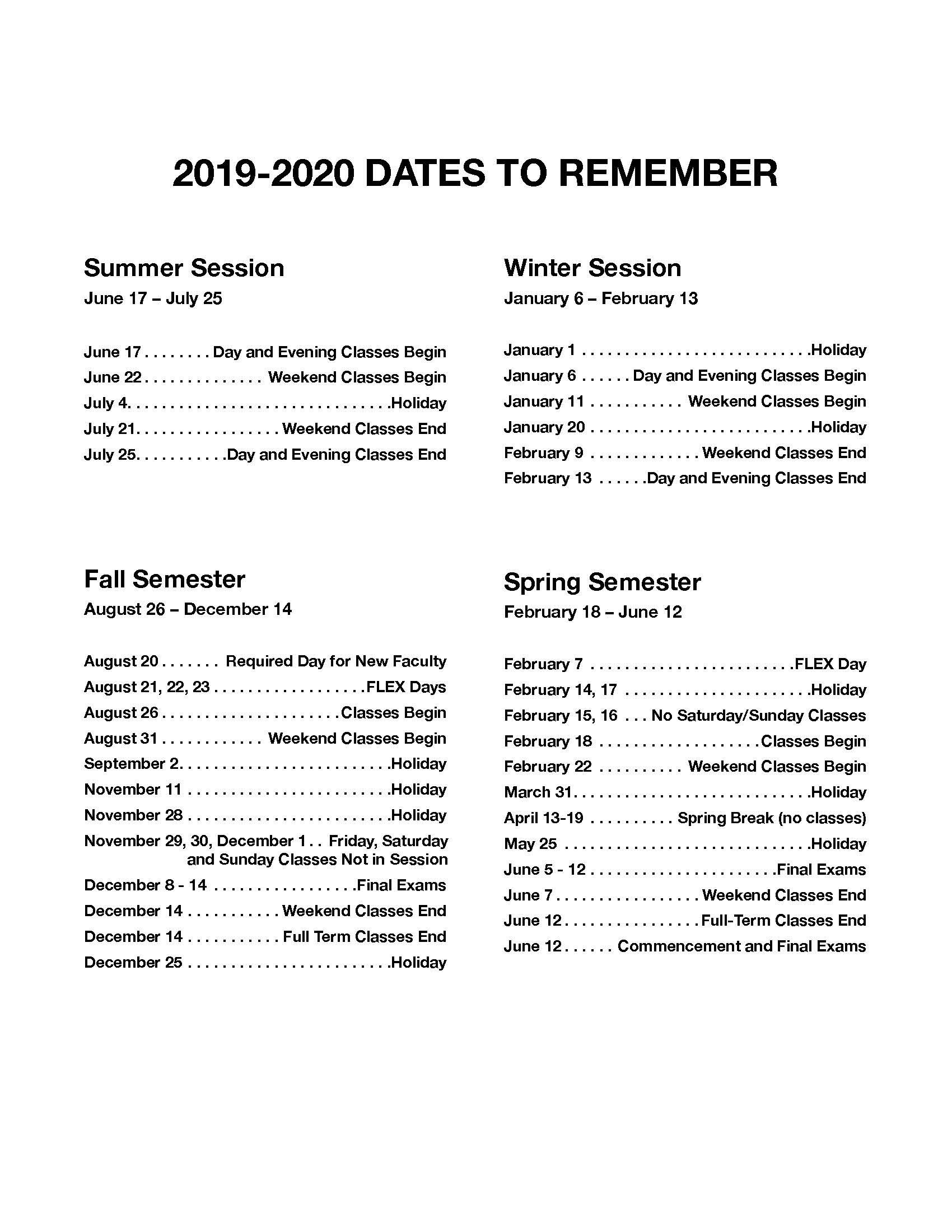 Jfk And Norco College Calendar 2019 2020 - John F. Kennedy Intended For Corona Norco Usd School Calendar