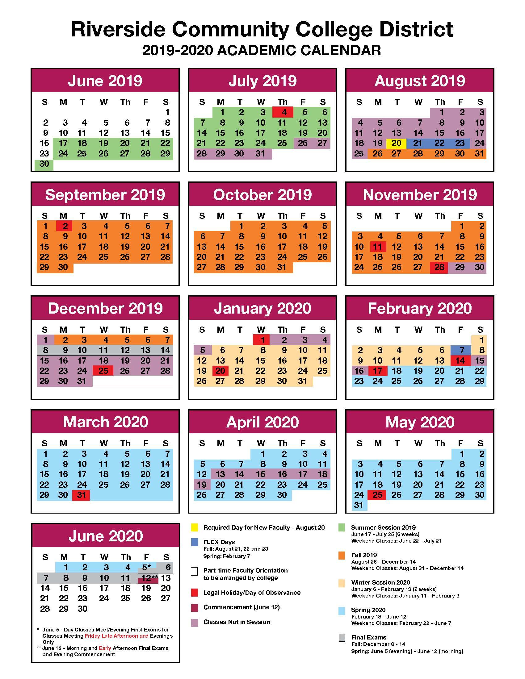 Jfk And Norco College Calendar 2019 2020 - John F. Kennedy Intended For University Of Redlands Academic Calendar 2020