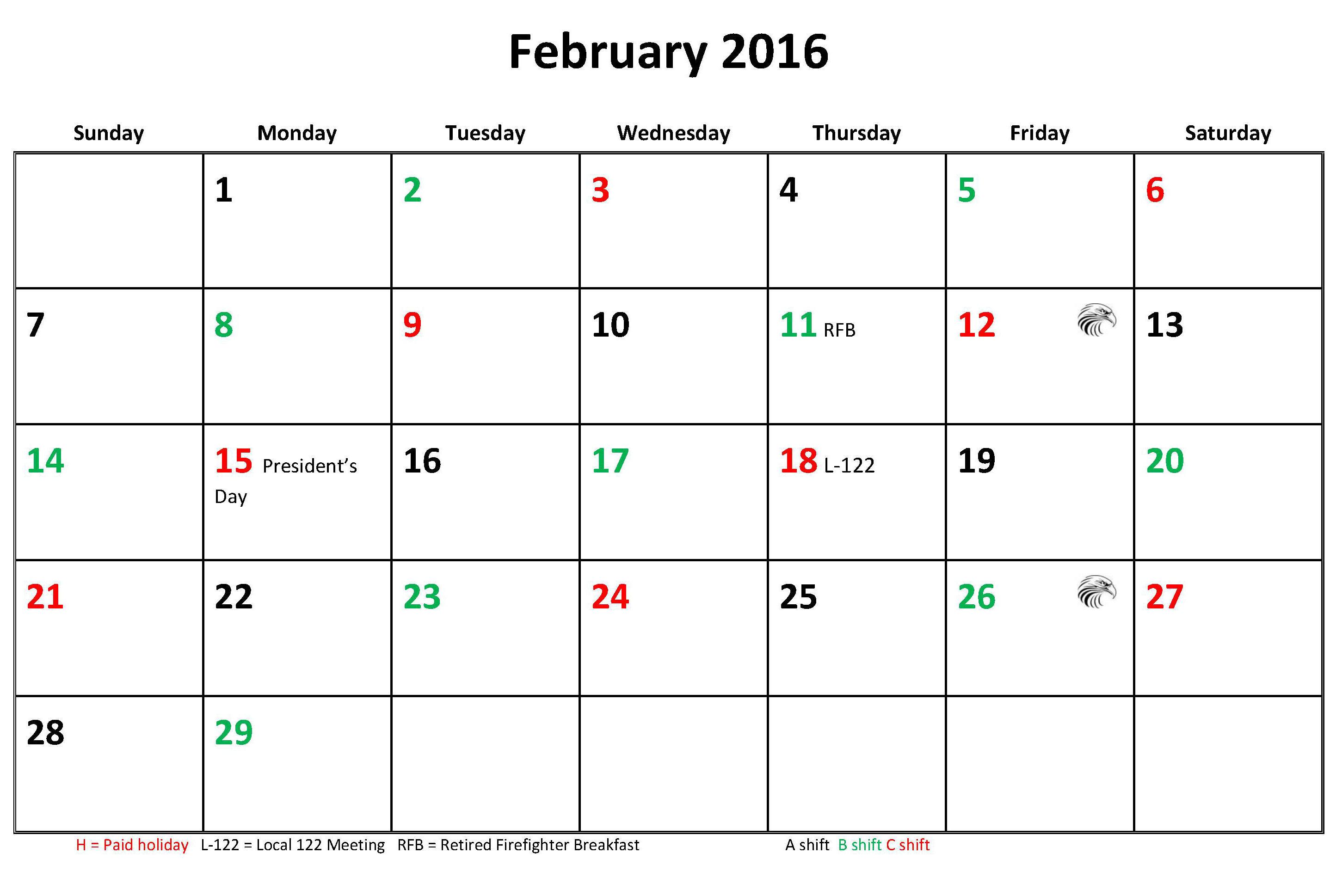 Jfrd 56 Hour Firefighter Shift Calendar 2016 Pertaining To Houston Fire Department Shift Calendar