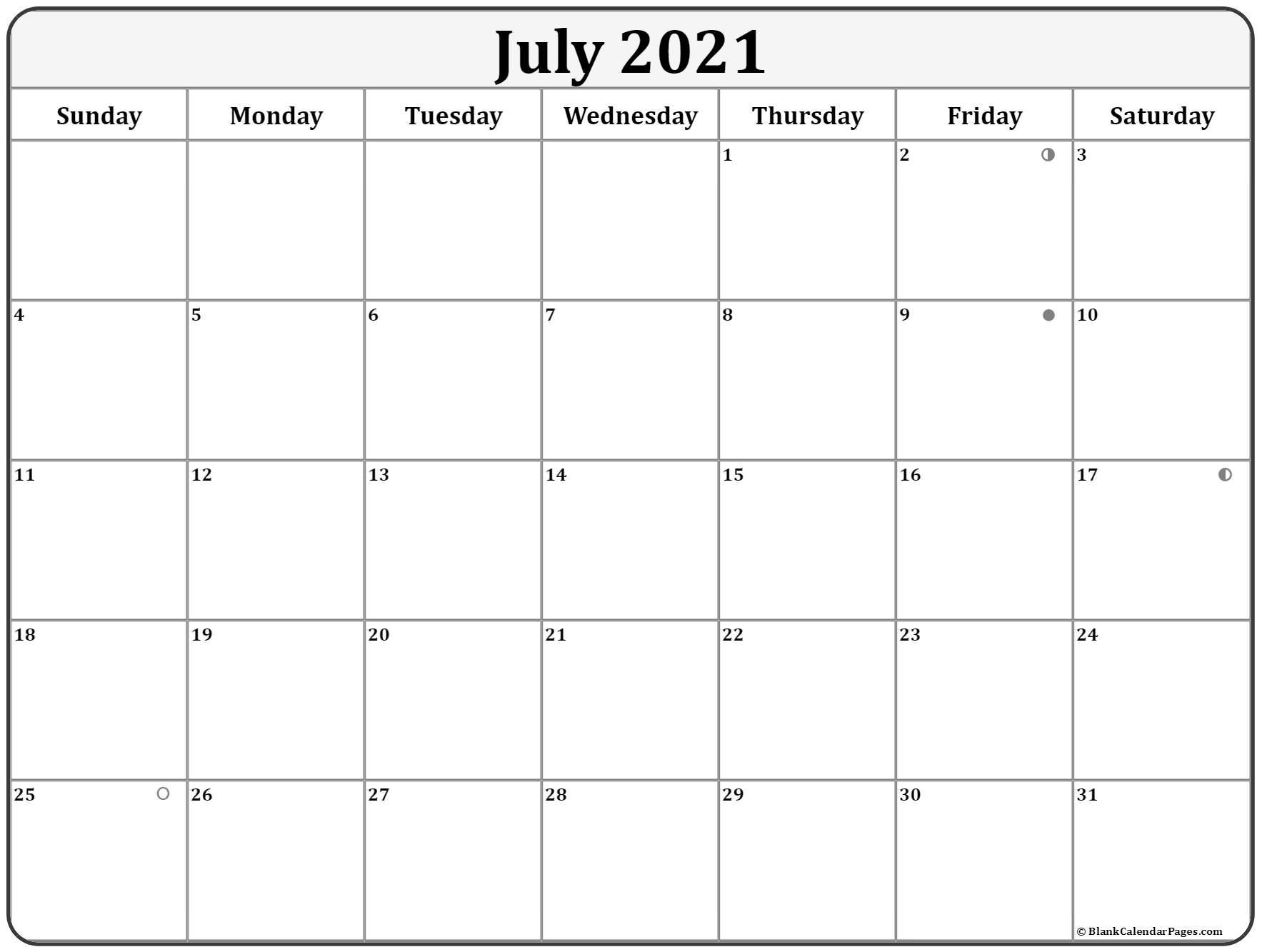July 2021 Lunar Calendar | Moon Phase Calendar With Regard To Moon Phase Deer Hunting Chart 2021
