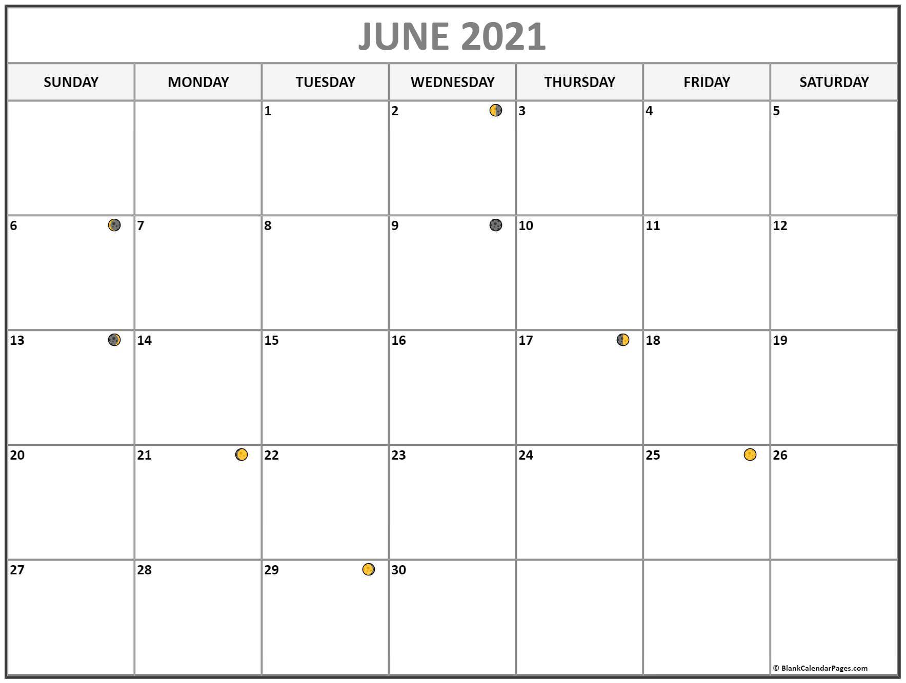 June 2021 Lunar Calendar   Moon Phase Calendar Throughout Moon Calendar 2021 Name And Date For Kids