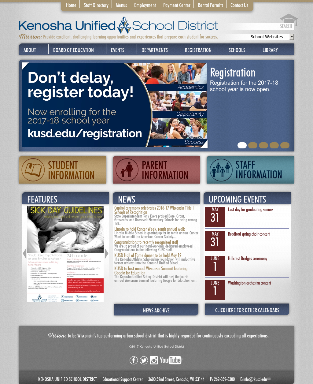 Kenosha Unified School District Competitors, Revenue And Throughout Kenosha United School District Calendar