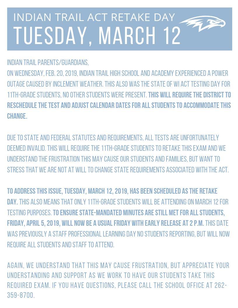 "Kenosha Unified Sd On Twitter: ""tuesday, March 12, 2019, Is In Kenosha United School District Calendar"