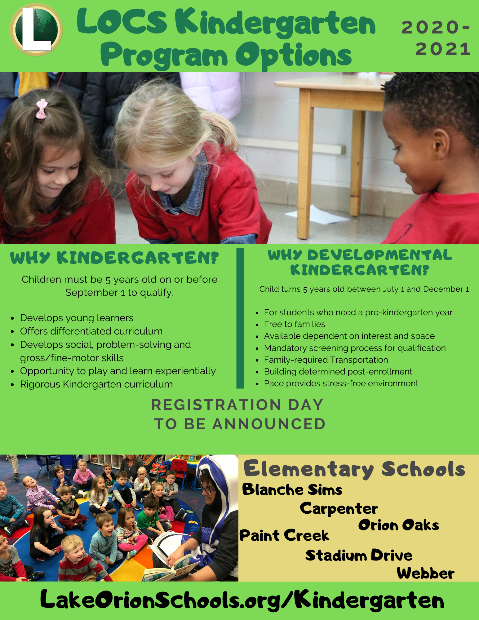 Kindergarten – Lake Orion Community Schools Inside Lake Orion School Calendar 2021