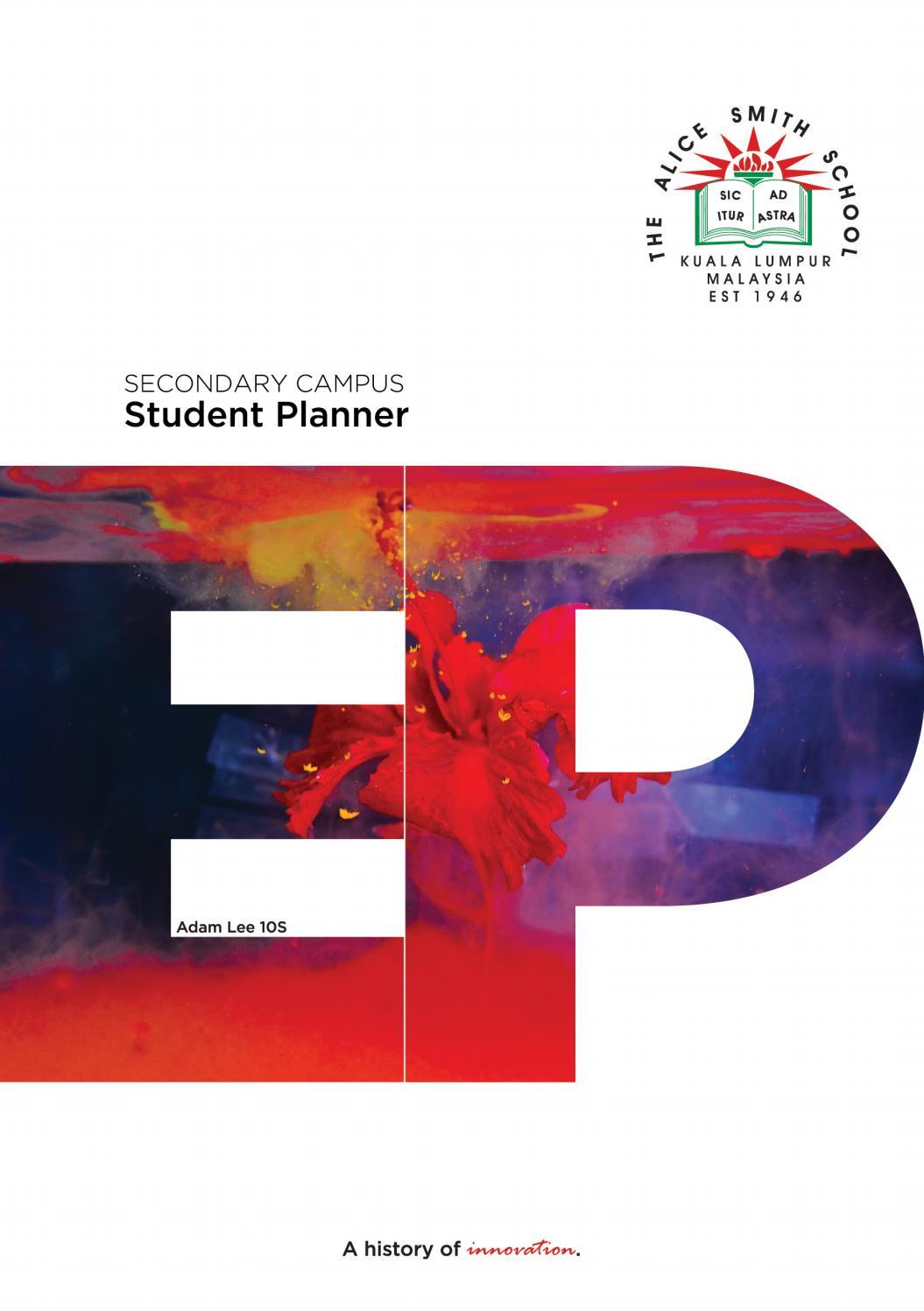 Klass Student Planner (Secondary Campus)Alice Smith Throughout August 2021 Calendar Hsu