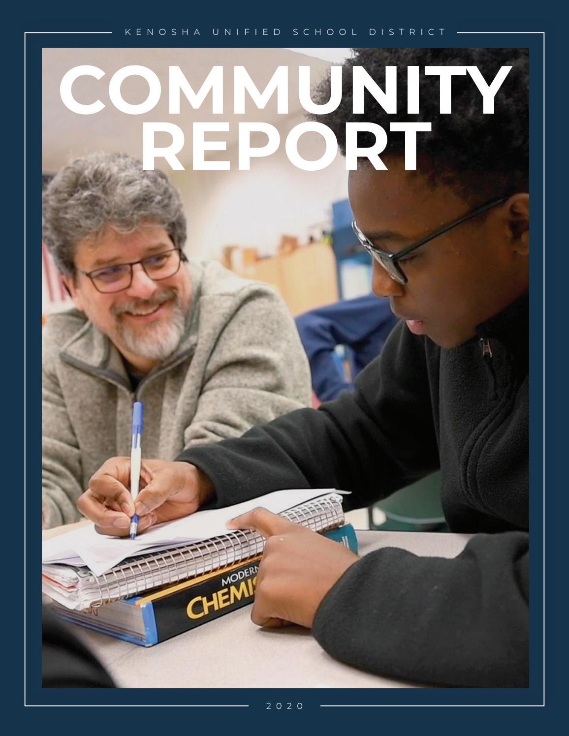 Kusd Community Report 2020 (English)Kenosha Unified Inside Kenosha United School District Calendar