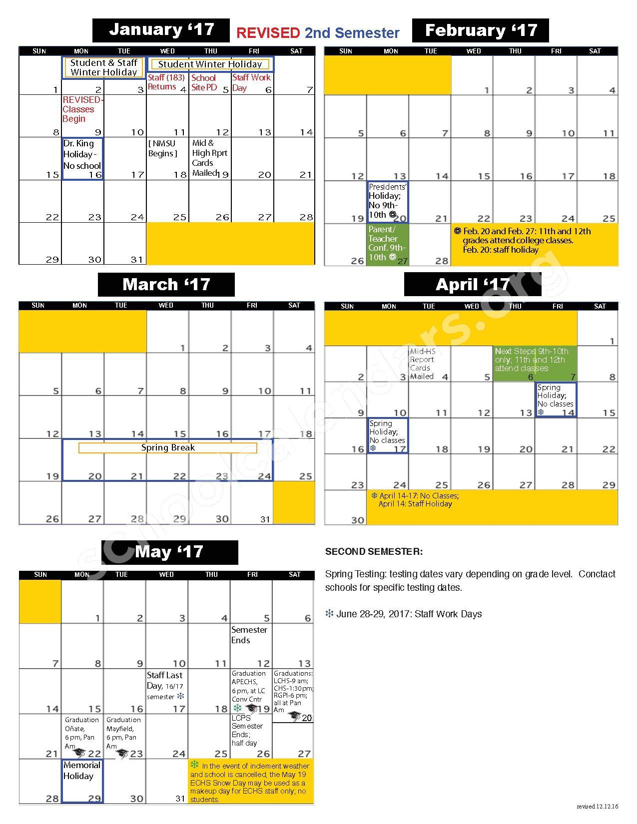 Las Cruces Public Schools Calendars – Las Cruces, Nm Pertaining To Las Cruces Public Schools Calendar