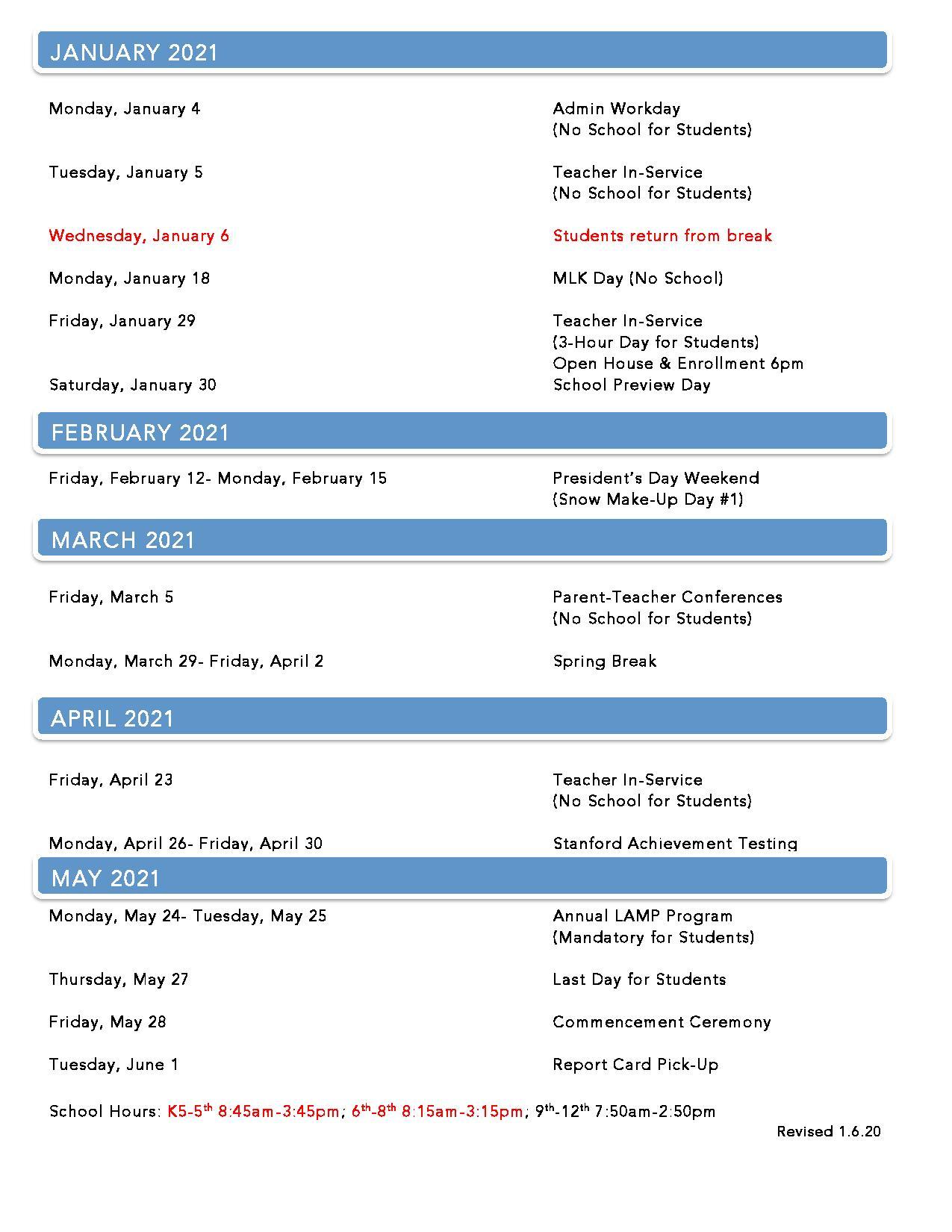 Lca Calendar For Davidson County Tn School Calendar 2021