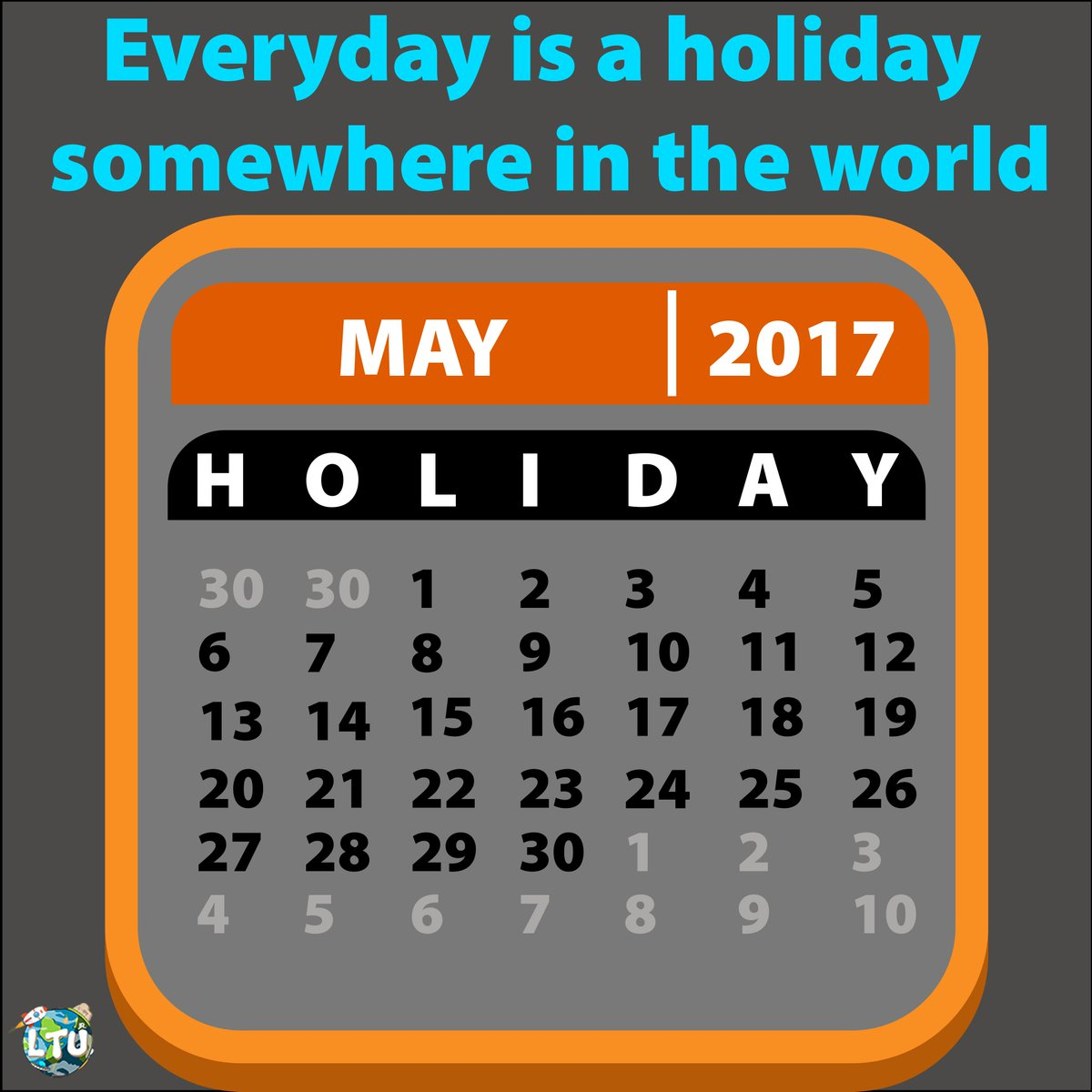 """Learn The Universe On Twitter: """"happy Holiday!! 😉😉 Follow Throughout Everyday Is A Holiday Calendar"""