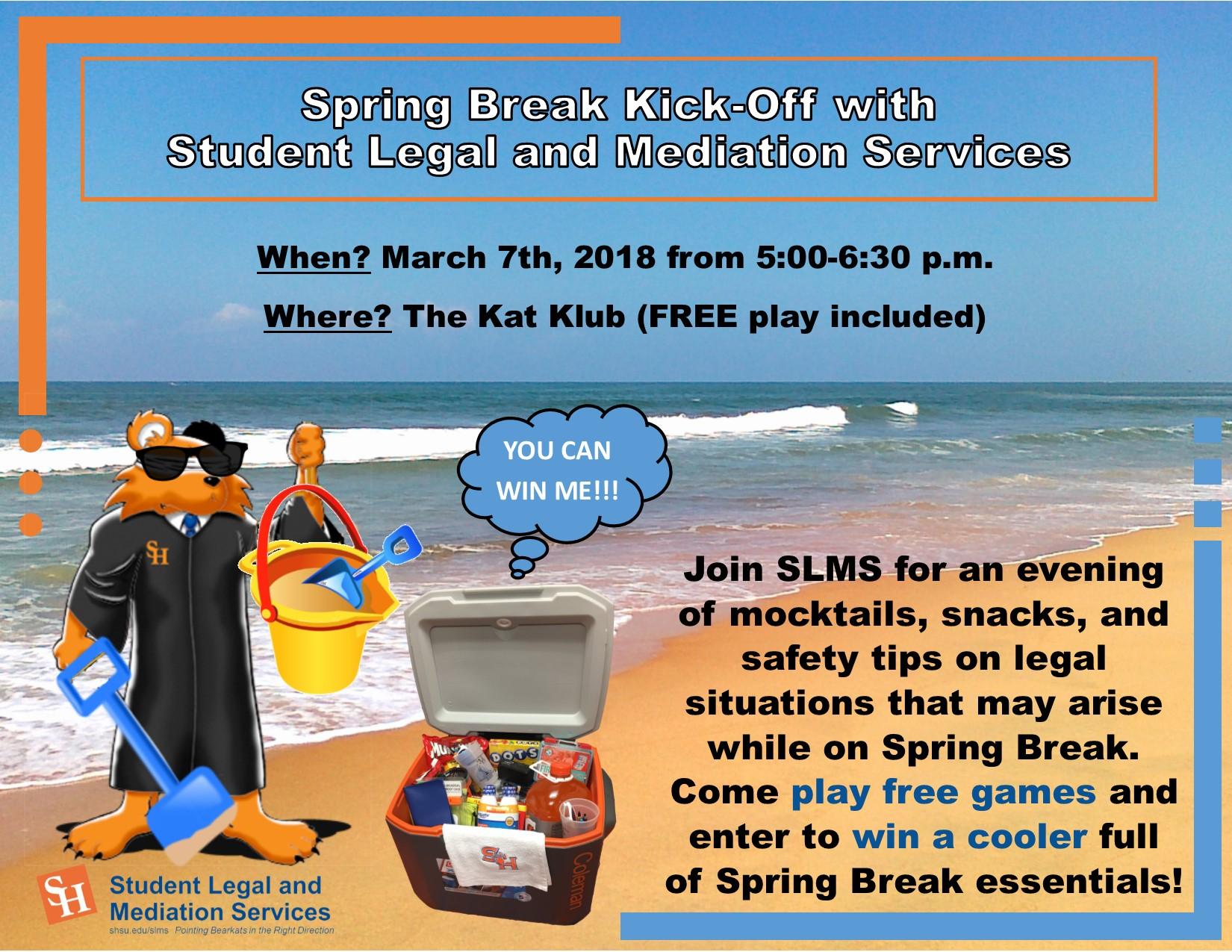 Legal Services' Secrets To A Safe, Smart Spring Break - Sam for When Is Sam Hustons States Spring Break