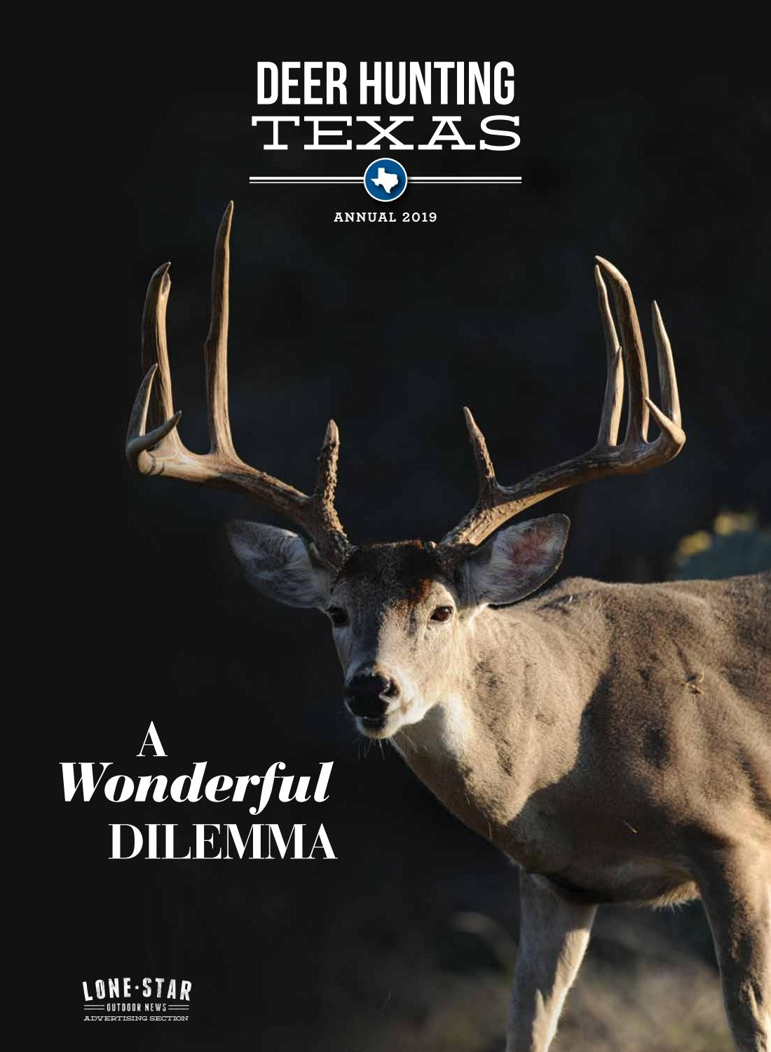 Lone Star Outdoor News Deer Hunting Texas Annual 2019 Intended For Moon Phase Deer Hunting Chart 2021