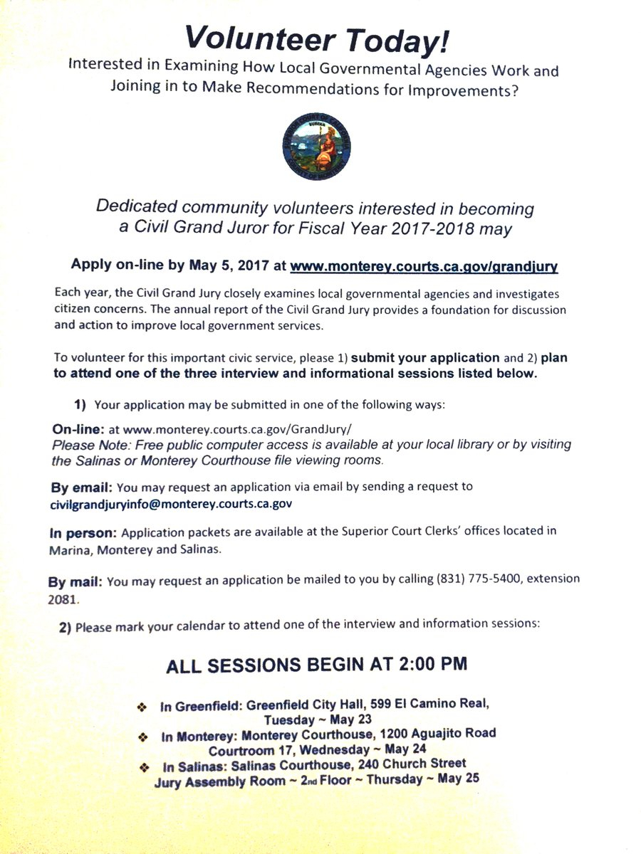 """Loup On Twitter: """"the Monterey County Superior Court Is intended for Monterey County Court Calendar"""
