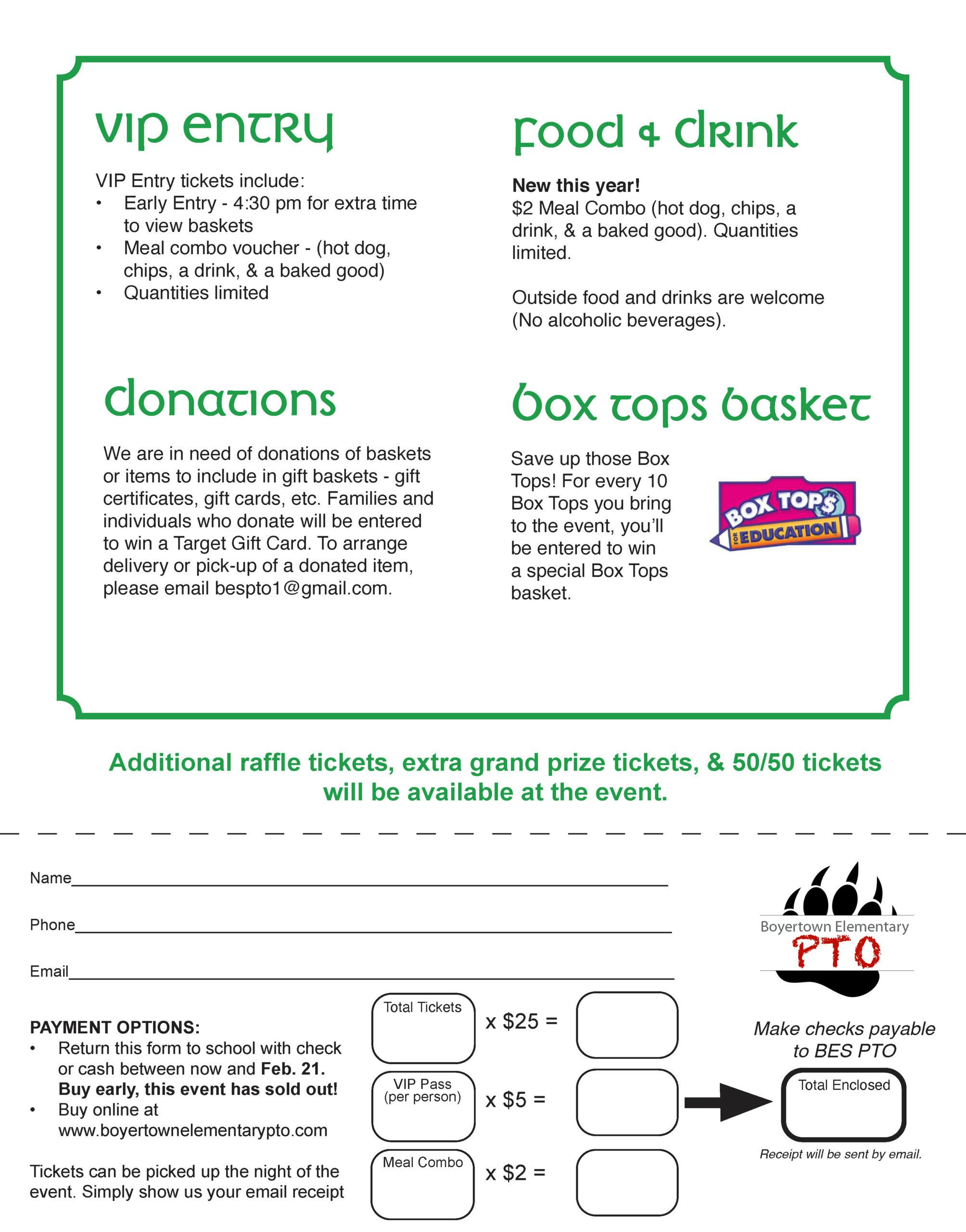 """Lucky Leap Year"" Basket Raffle Party – Sold Out! Regarding Boyertown School Calander"