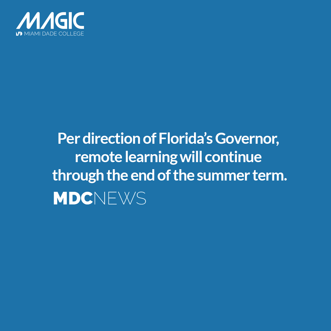 Magic (@magic Mdc)   Twitter Within First Day Of Class Miami Dade College Fall 2020