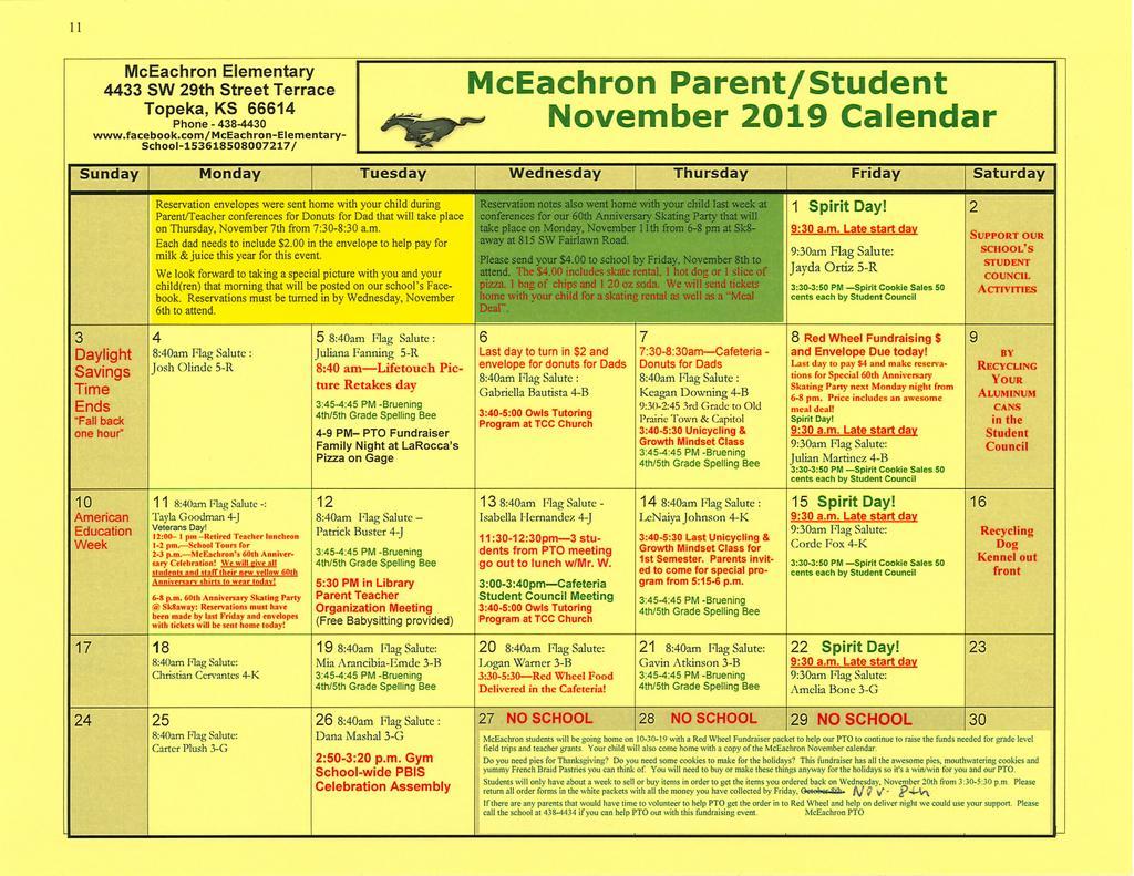 Mceachron Elementary School / Homepage Intended For Topeka West High School Calendar