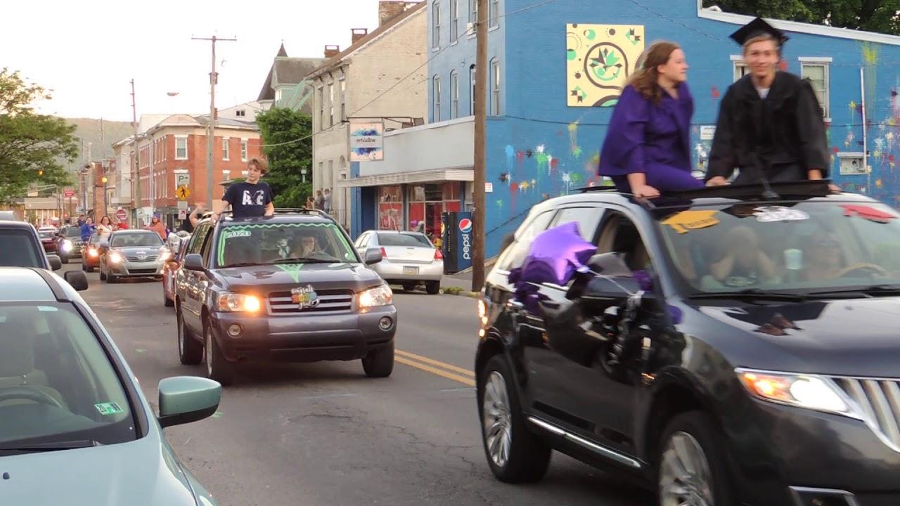 Mifflin County High School 2020 Graduation Parade Throughout Mifflin County School Graduation