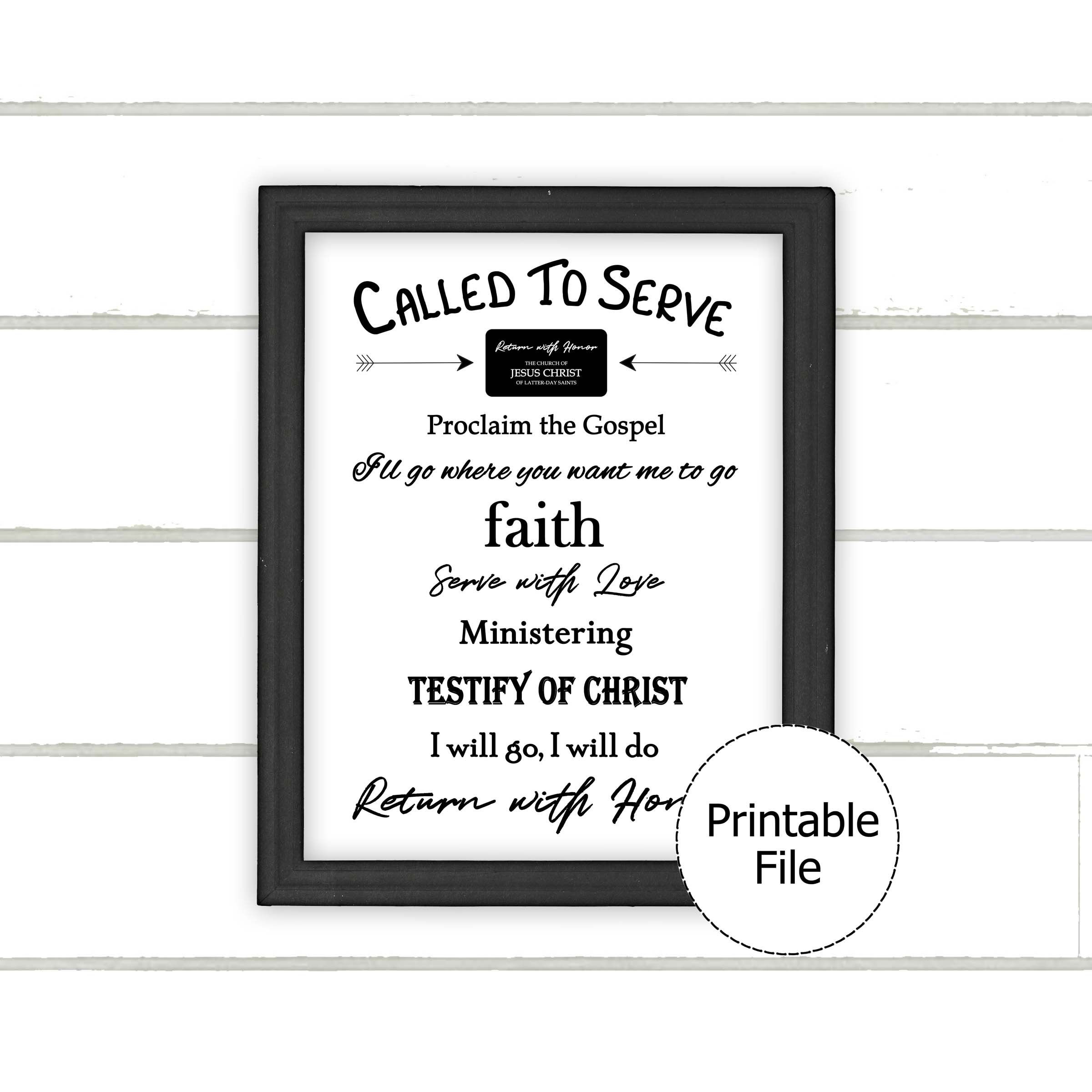 Missionary Poster Printable, Missionary Decorations Throughout Printables Pictures Of Mens On A Mission