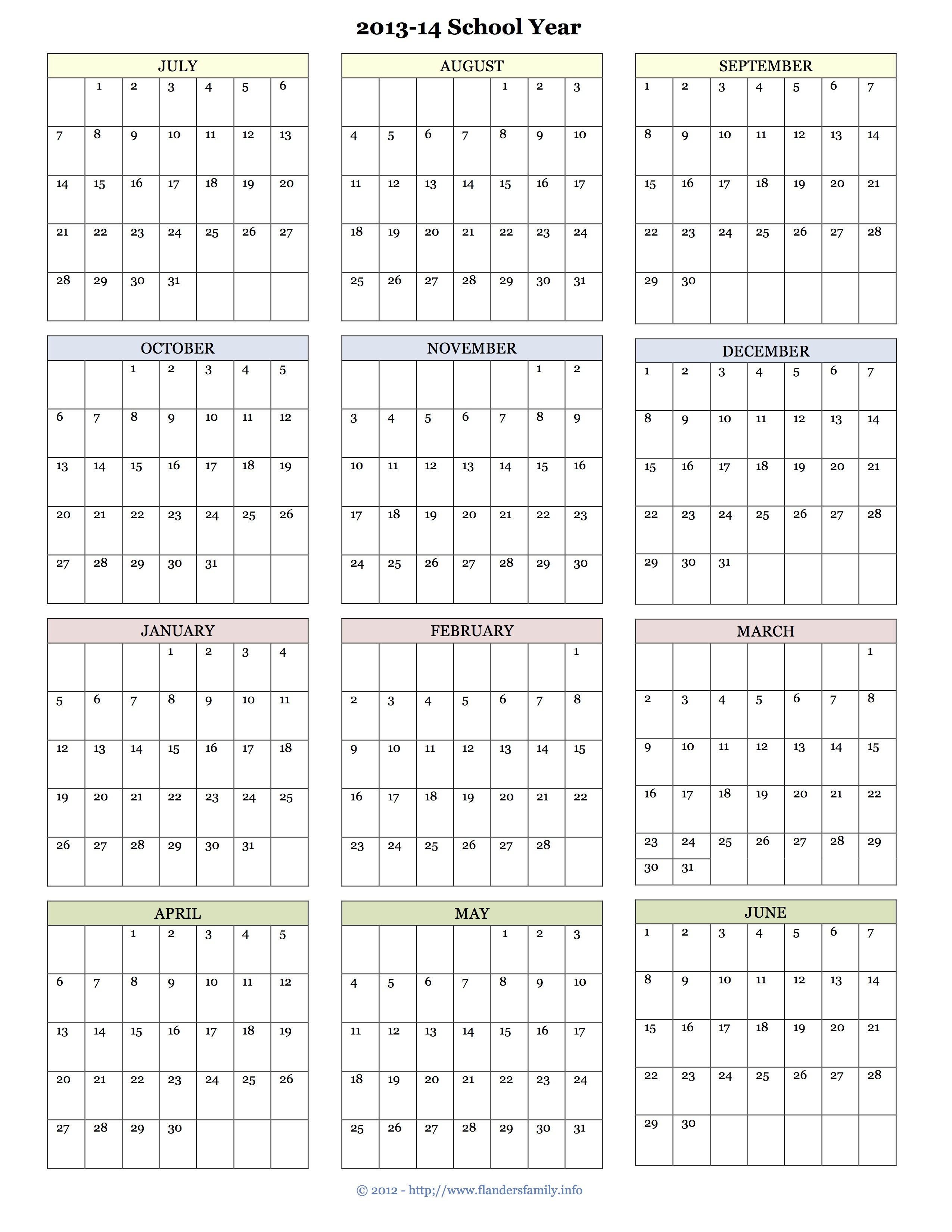 Monthly Calendar Pages Archives - Flanders Family Homelife in Flanders Family 2020 Academic Calendar -2021