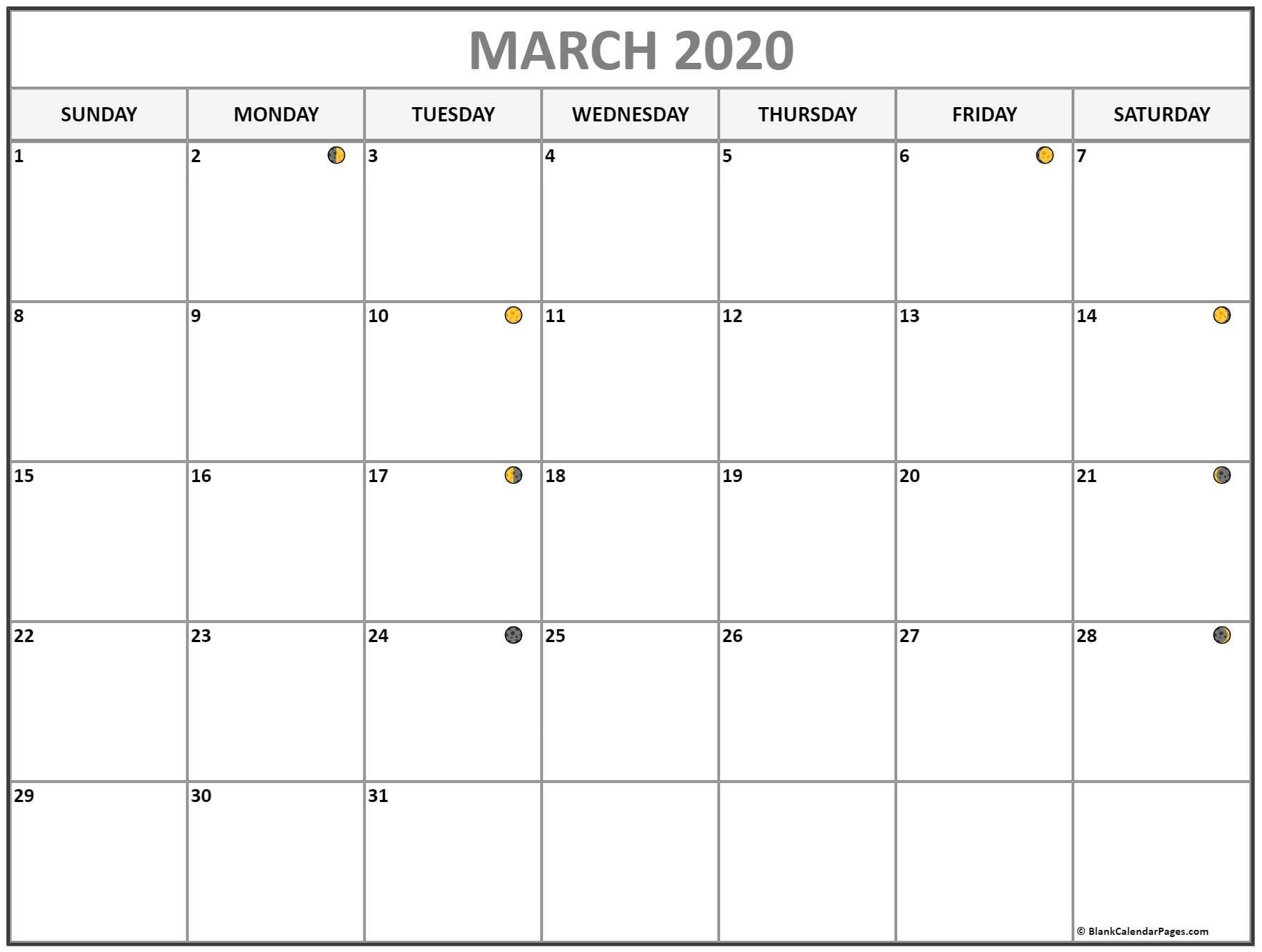 Moon Calendar March 2020 – Full & New Moon In 2020   Lunar For Moon Calendar 2021 Name And Date For Kids
