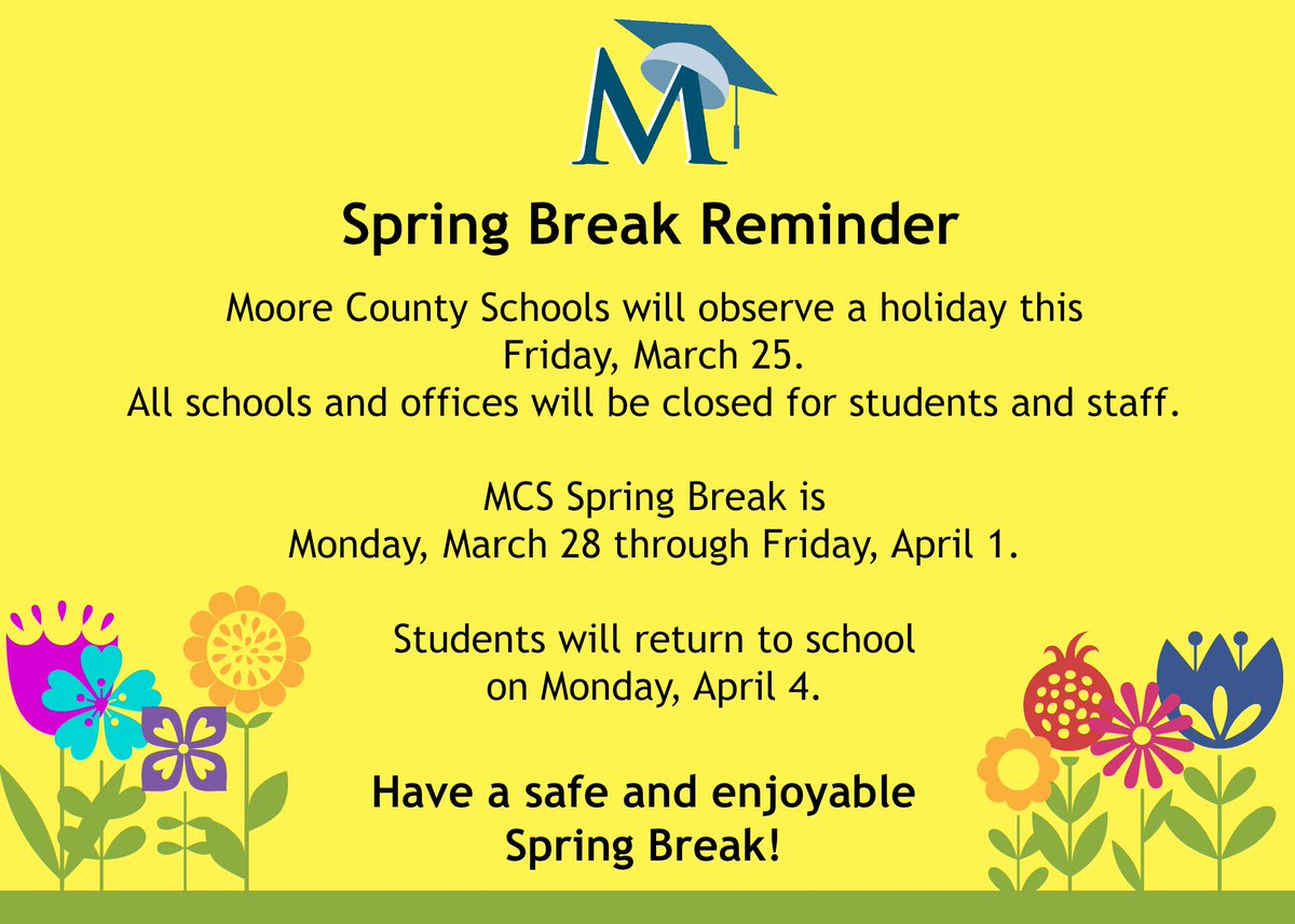 """Moore County Schools On Twitter: """"just A Reminder Regarding Throughout Moore County Nc Schools Calendar"""