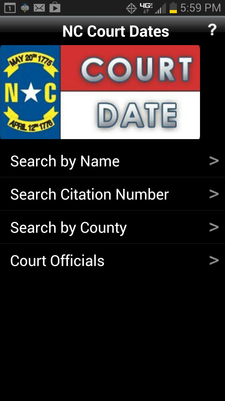 Nc Court Date Finder For Android - Apk Download Intended For Nc Court Dates By Defendant Name Query