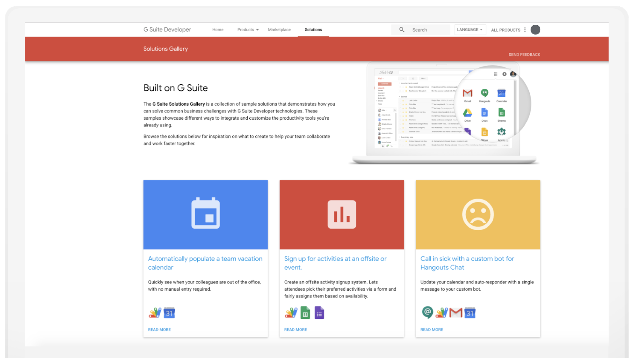 New Solution Gallery Helps You Customize And Extend G Suite Regarding How To Create A Printable Calendar In G Suite