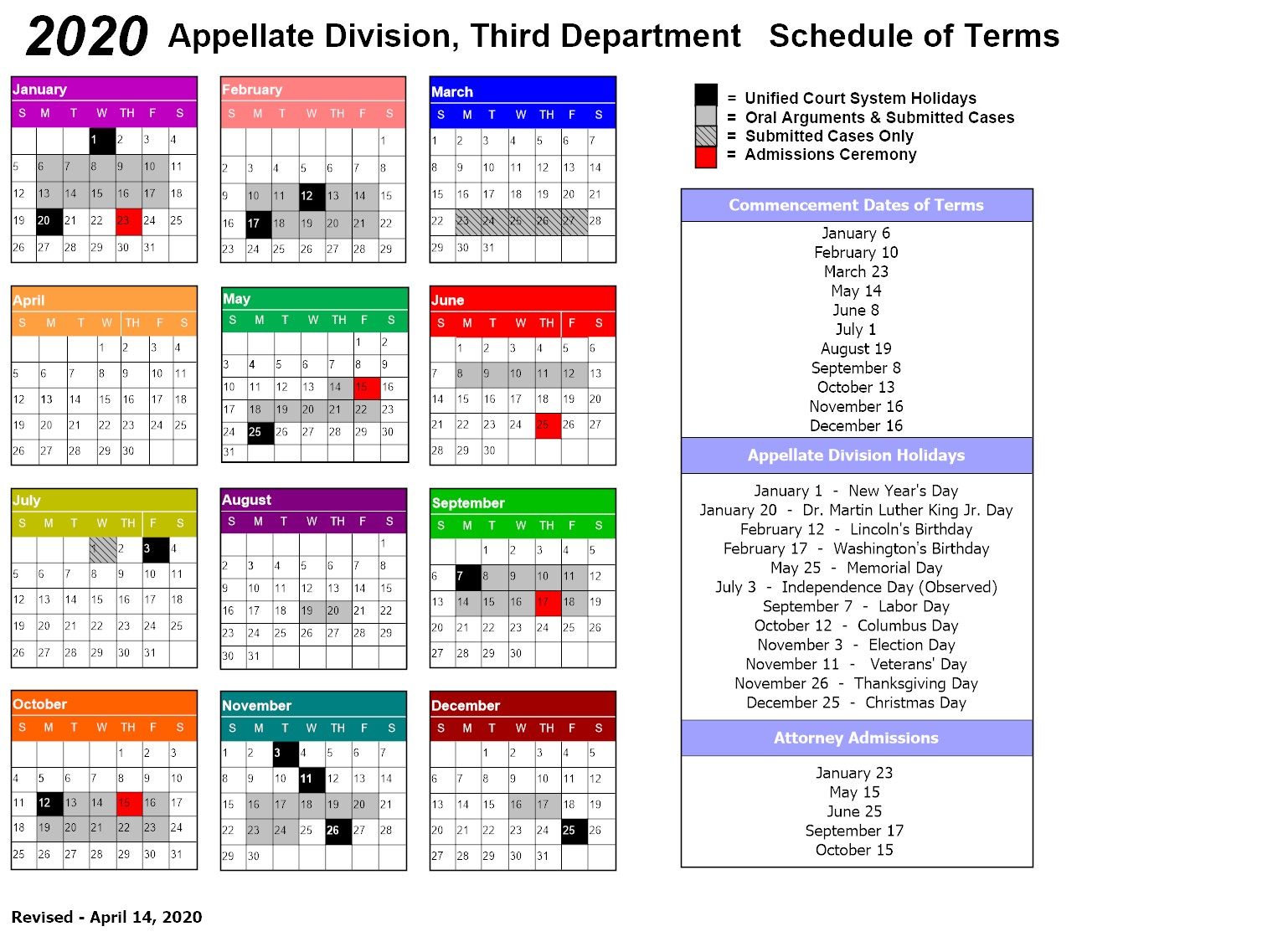 New York State Supreme Court – Appellate Division – 3Rd Inside Orange County Superior Court Departmental Calendar