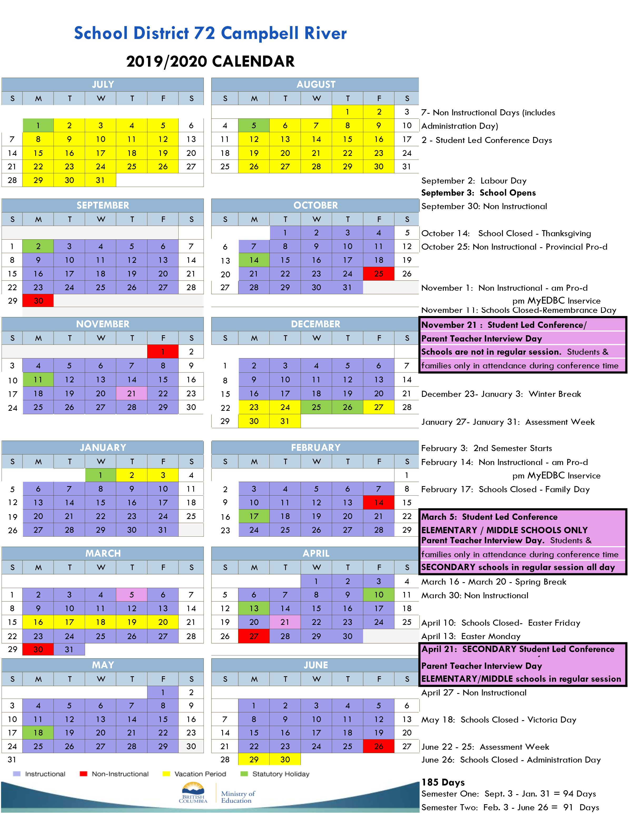 News Archive - Campbell River School District For Georgia State University 2021 2021 Calendar