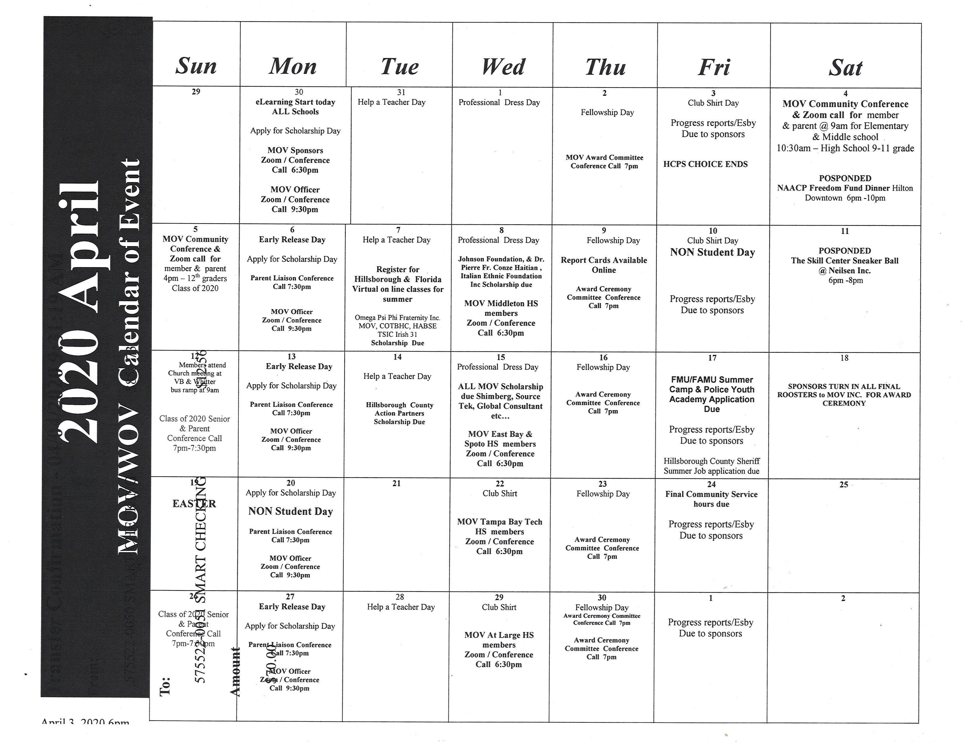 News & Events   Men Of Vision Inc For Spring 2021 Calendar Hillsborough Community College